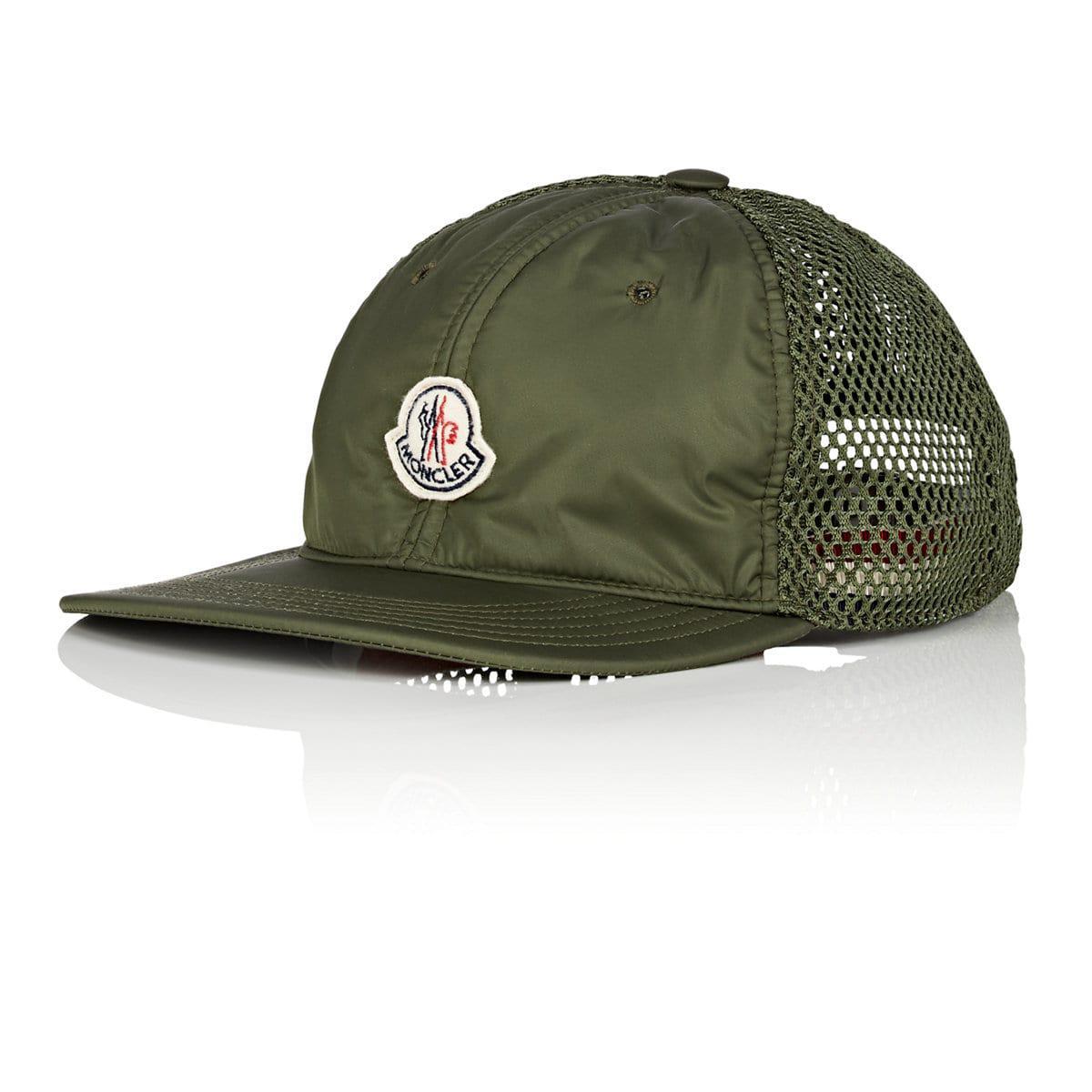f1684298393 Lyst - Moncler Logo Mesh-back Trucker Hat in Green for Men