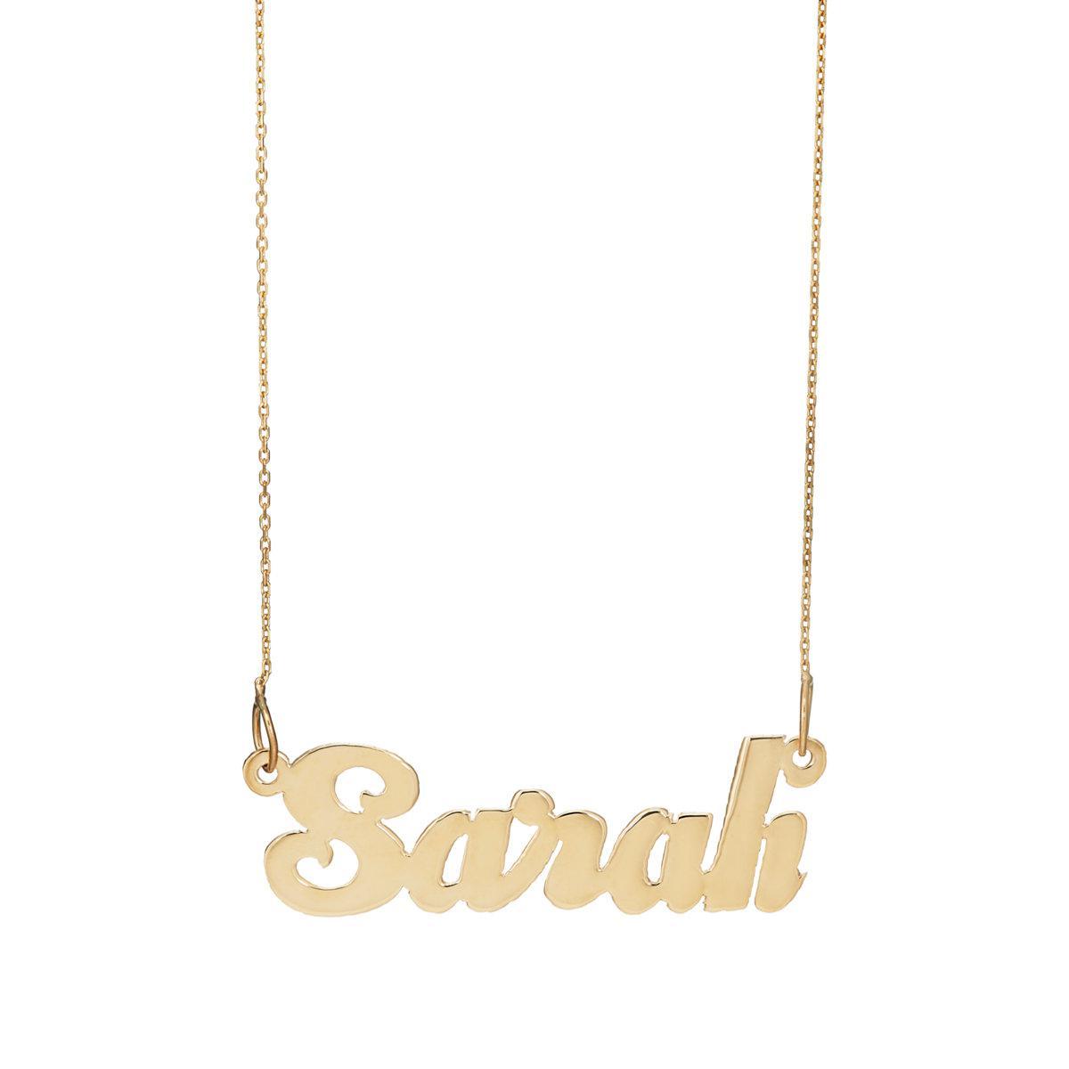 Bianca Pratt Womens Sugar Nameplate Necklace A3apwBOE