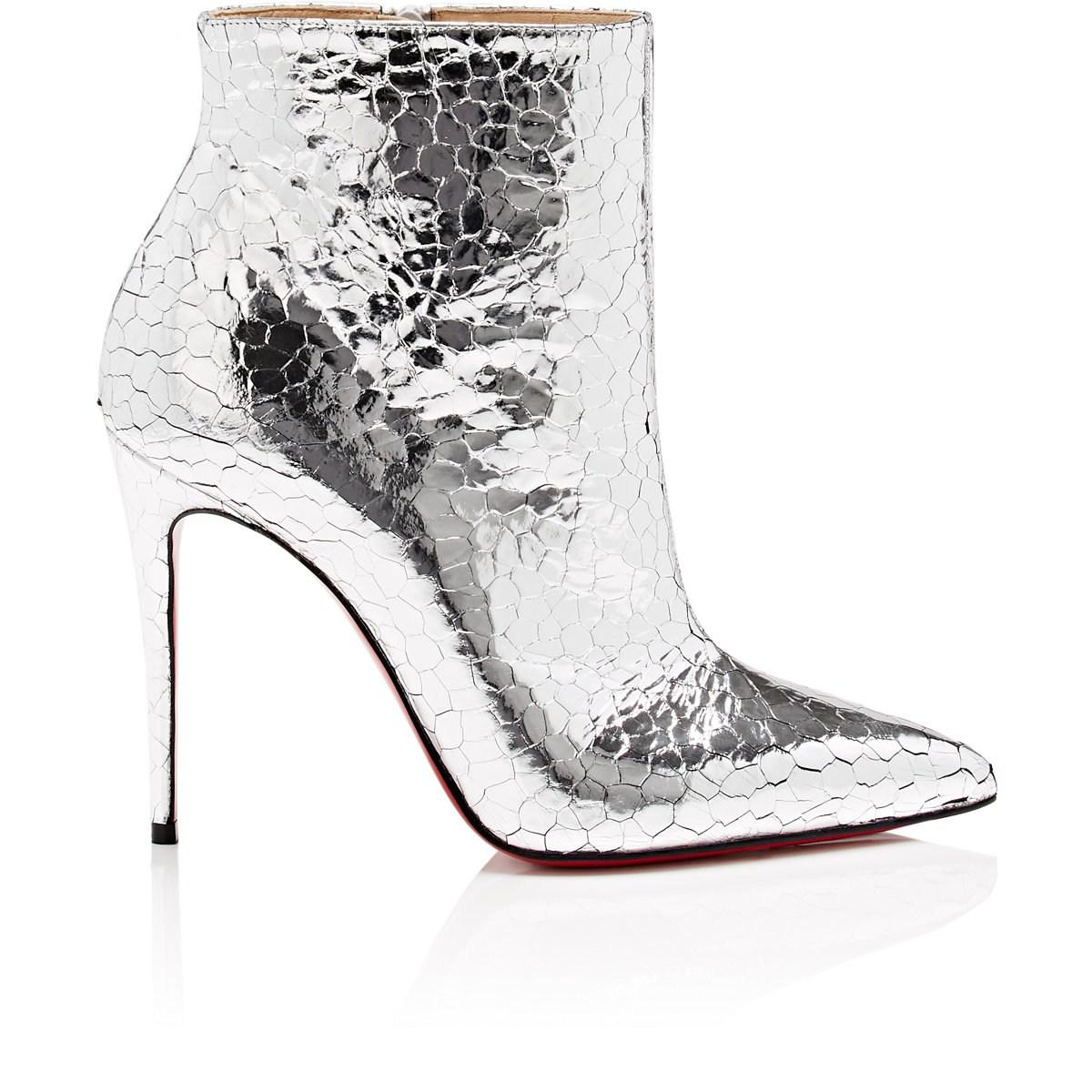 844e8fd37893 Lyst - Christian Louboutin So Kate Craquelé Leather Ankle Boots in ...