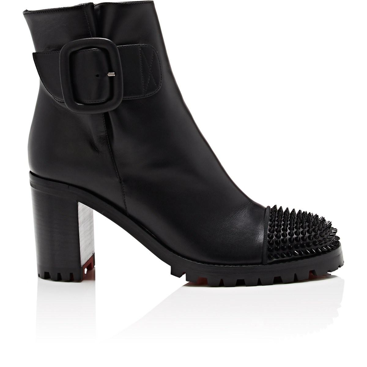 ba008246d96 Lyst - Christian Louboutin Olivia Snow Leather Ankle Boots in Black
