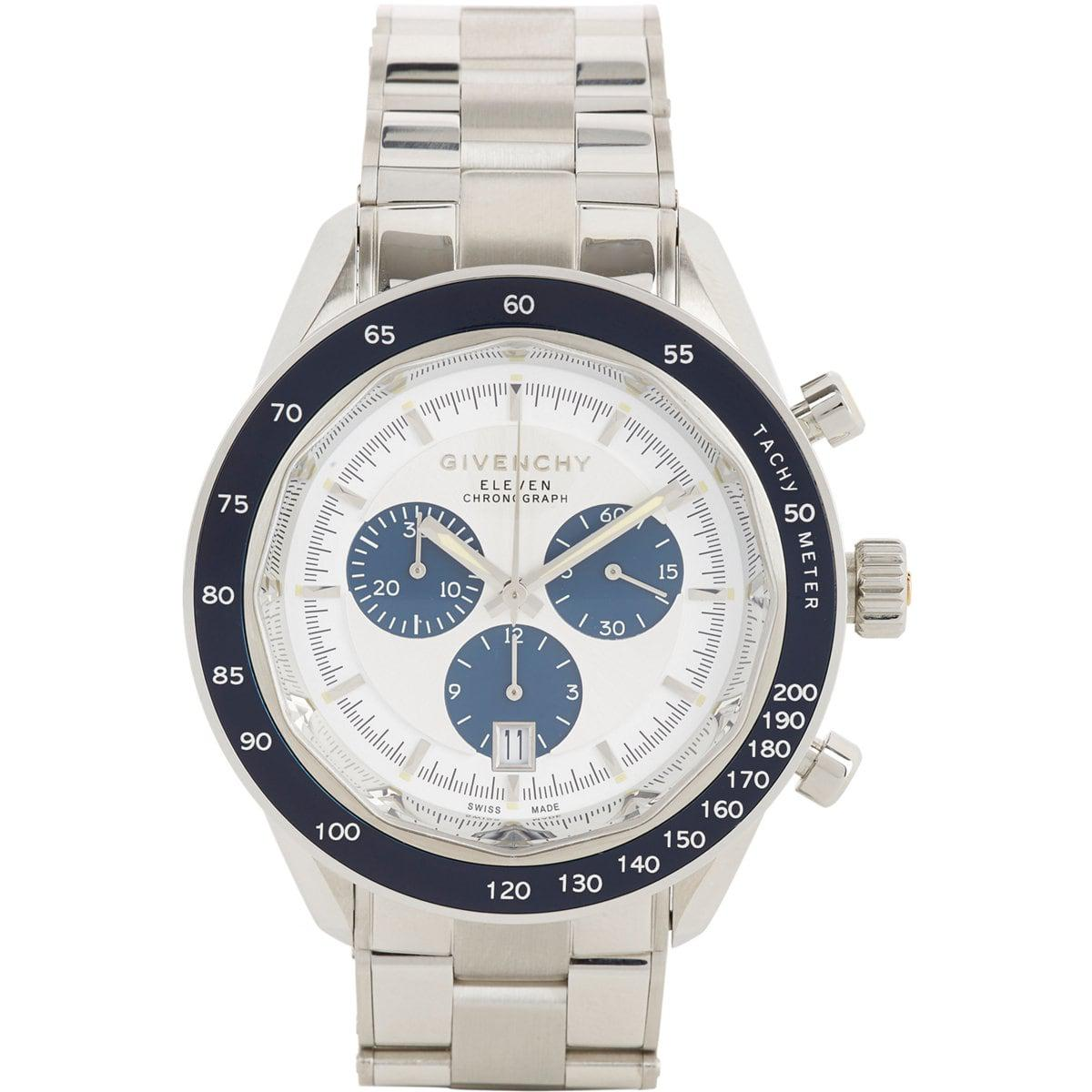 Givenchy eleven chronograph watch in metallic for men lyst for Givenchy watches