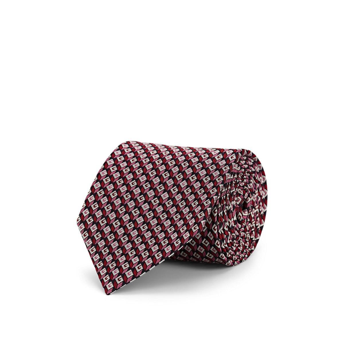 45d02e1ec0e Lyst - Gucci 3d G Silk Jacquard Necktie in Pink for Men