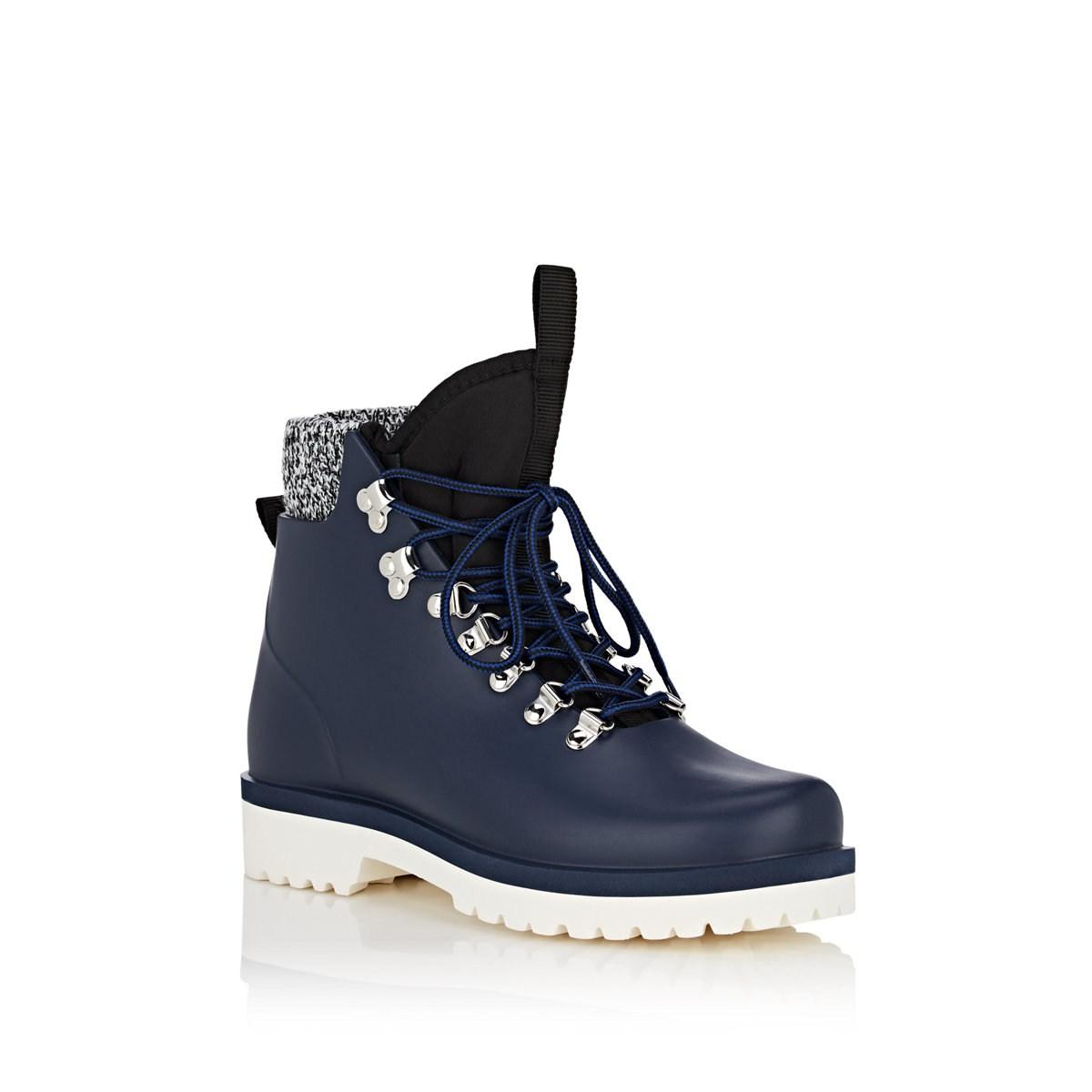 8c95696ee07 Barneys New York Blue Victor Rubber Lace-up Ankle Boots. View fullscreen
