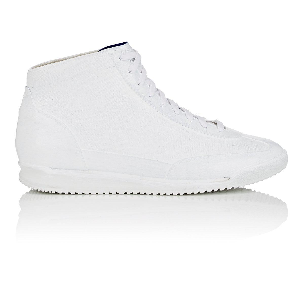 Maison Sneakers For White Coated amp; Paint Suede In Margiela Canvas rgxYAwr4