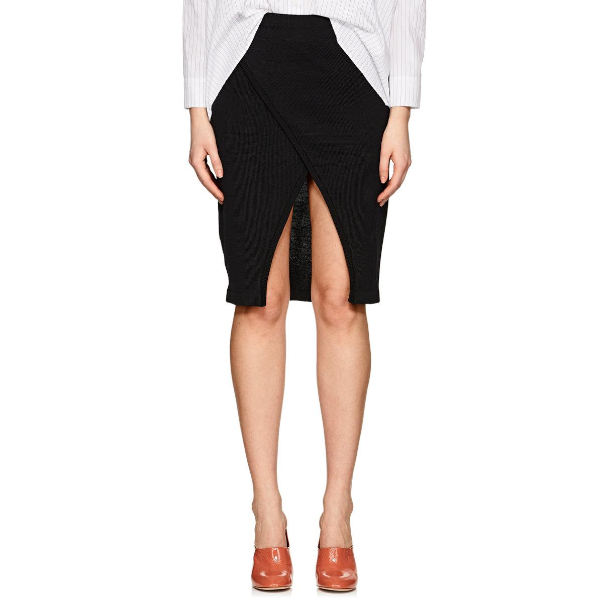 Clearance 2018 New Sale Footlocker Finishline Womens Wrap-Front Merino Wool-Cashmere Skirt Ji Oh Clearance Manchester Free Shipping Very Cheap Best Deals fqtNCeqX4n
