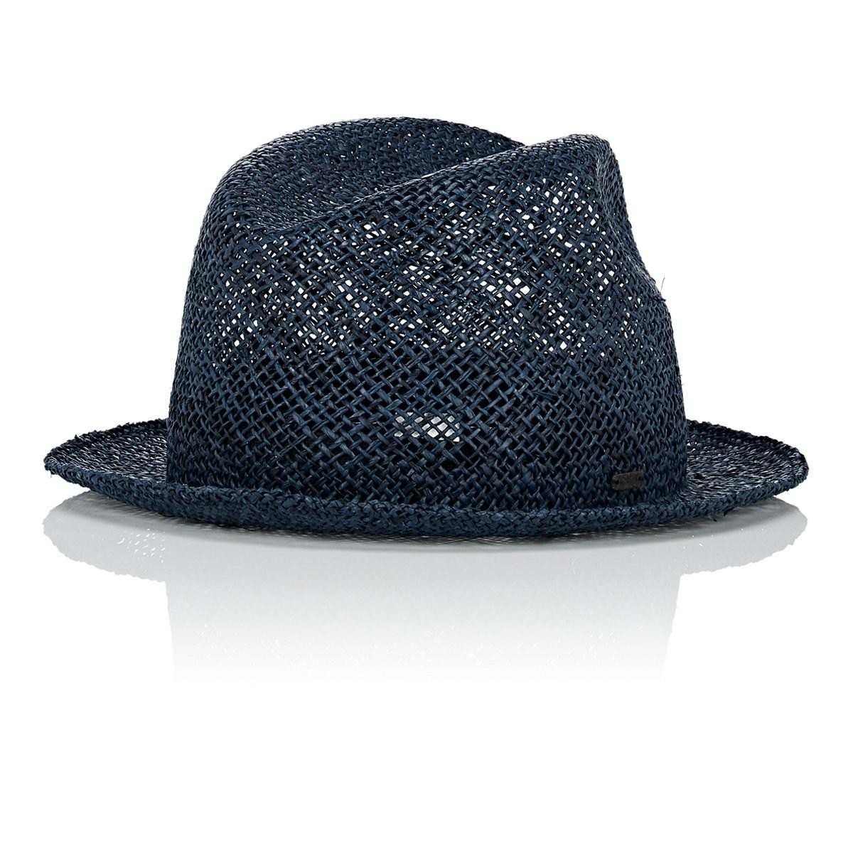 4250d6b2d Lyst - CA4LA Trilby Straw Fedora in Blue for Men