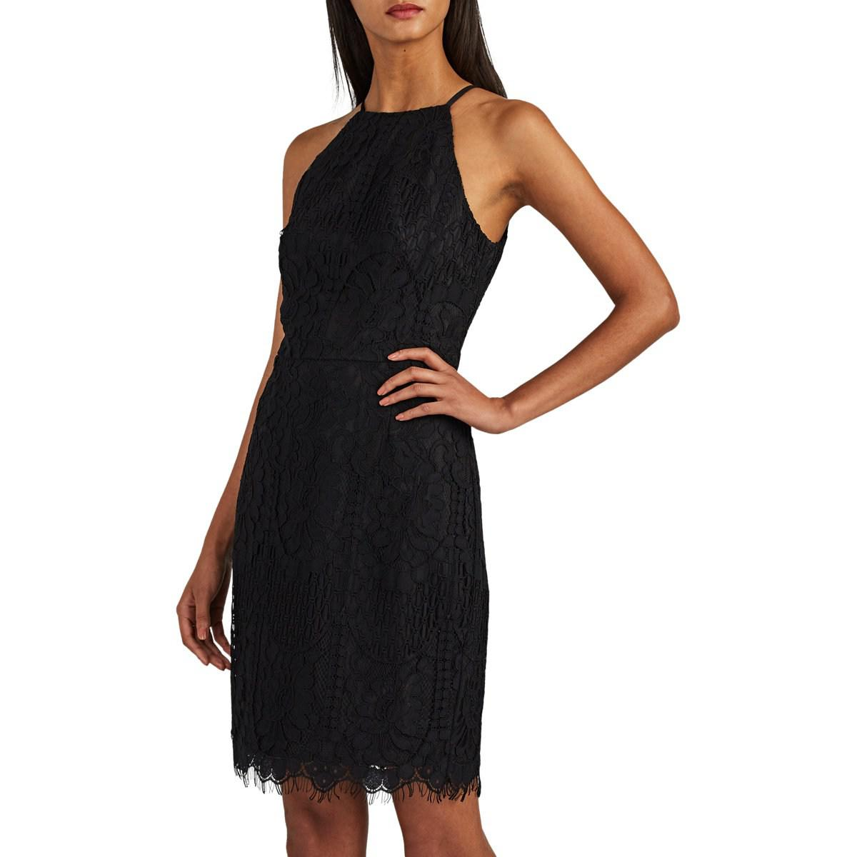 5f6db4e5535 Lyst - Barneys New York Corded-lace Halter Dress in Black