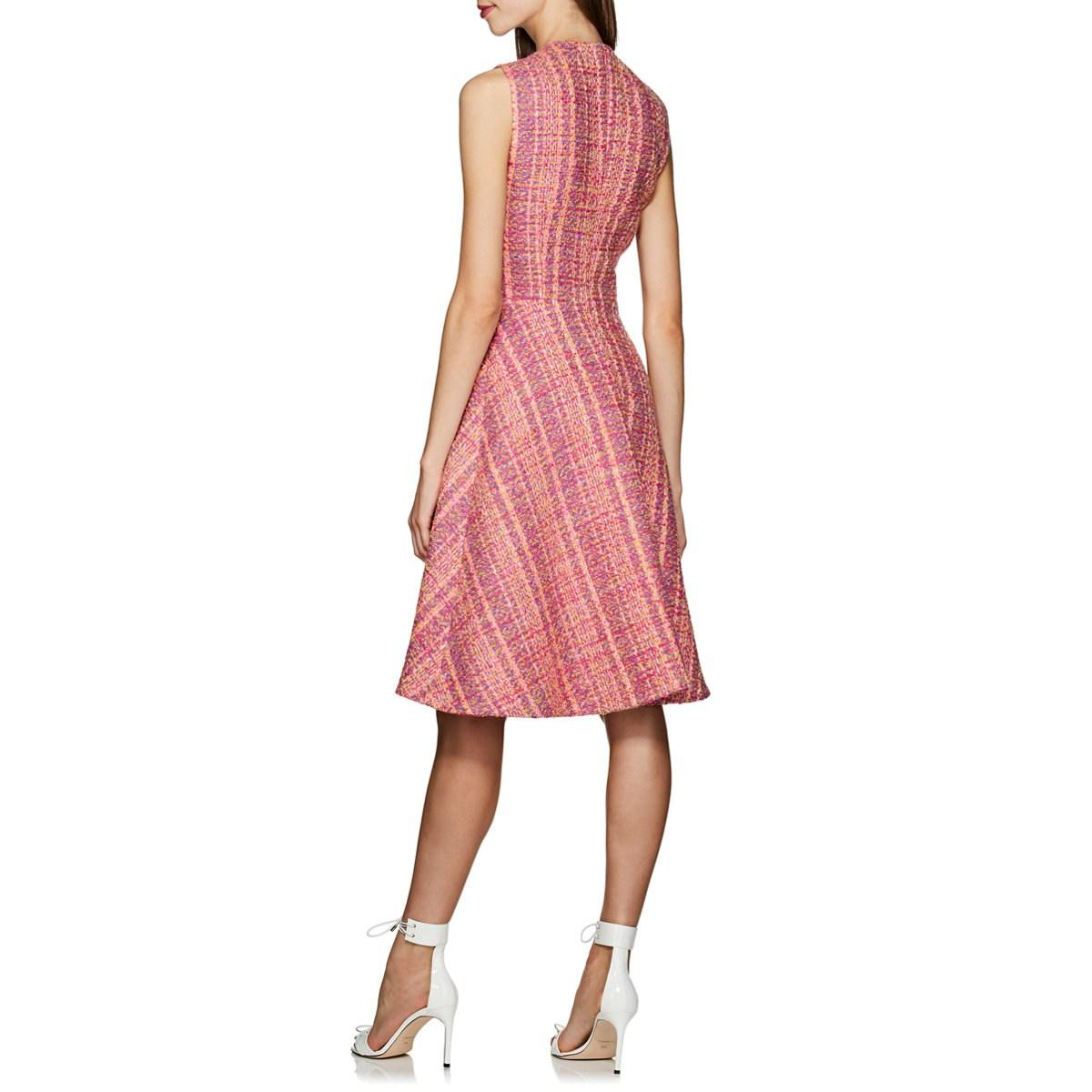 94c88295 Prada Wool Bouclé Tweed Sheath Dress in Pink - Lyst