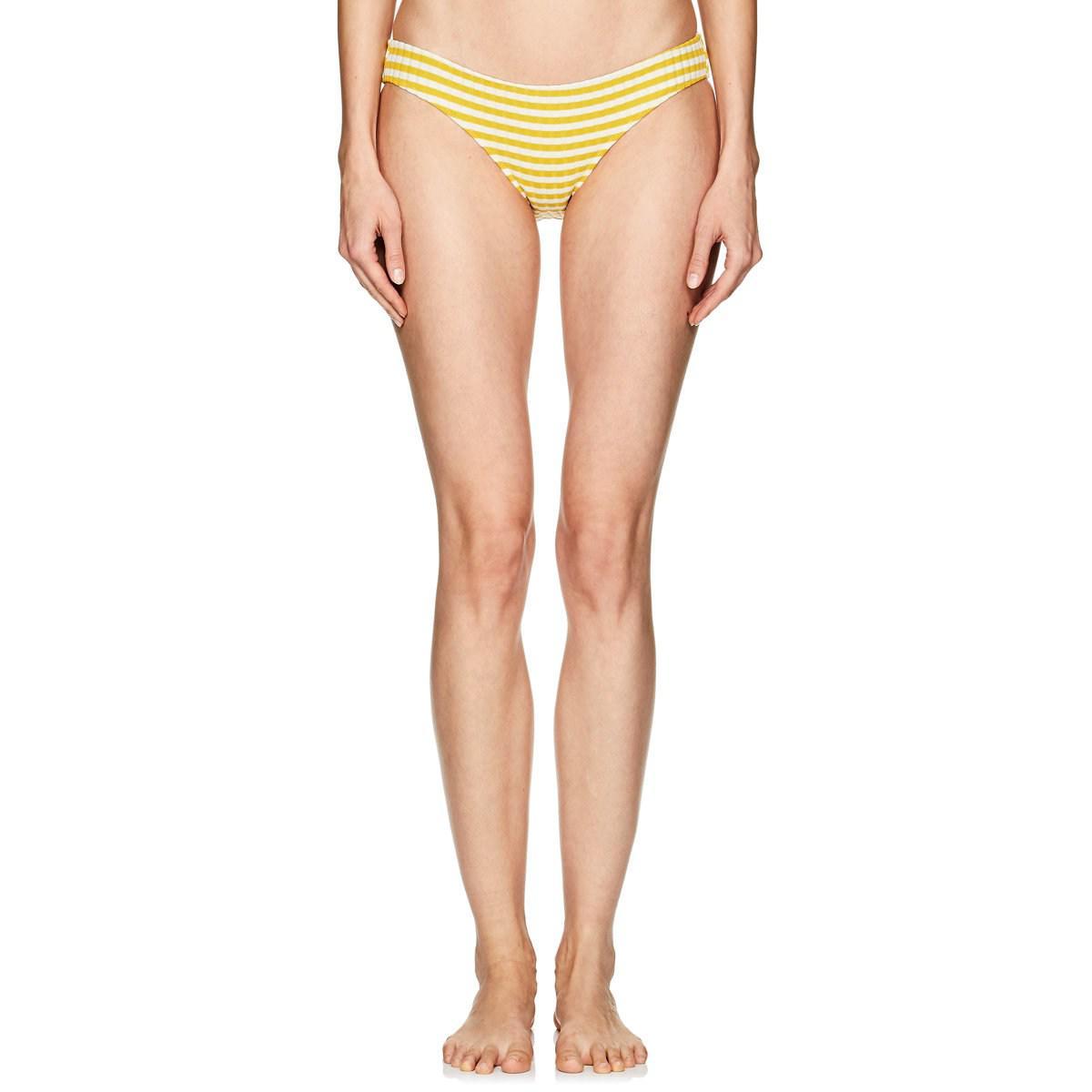 a4db4fa70165 Lyst - Solid   Striped Elle Striped Rib-knit Bikini Bottom - Save 70%