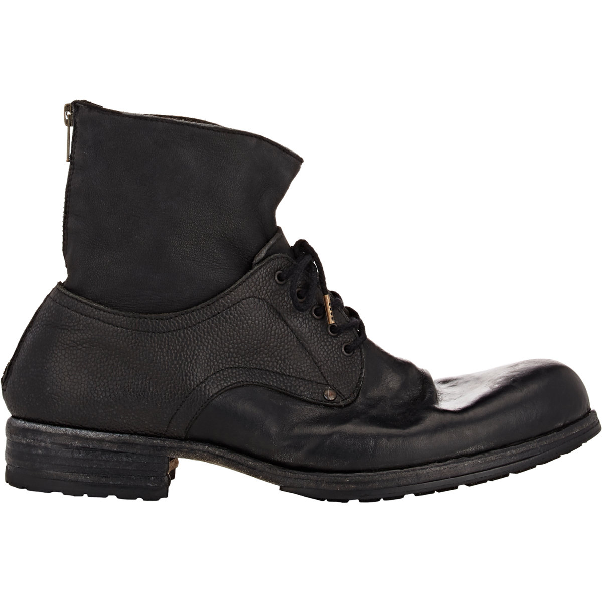 shoto s back zip boots in black for lyst