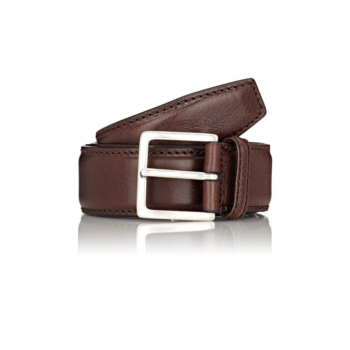 lyst barneys new york men 39 s leather belt in brown for men. Black Bedroom Furniture Sets. Home Design Ideas