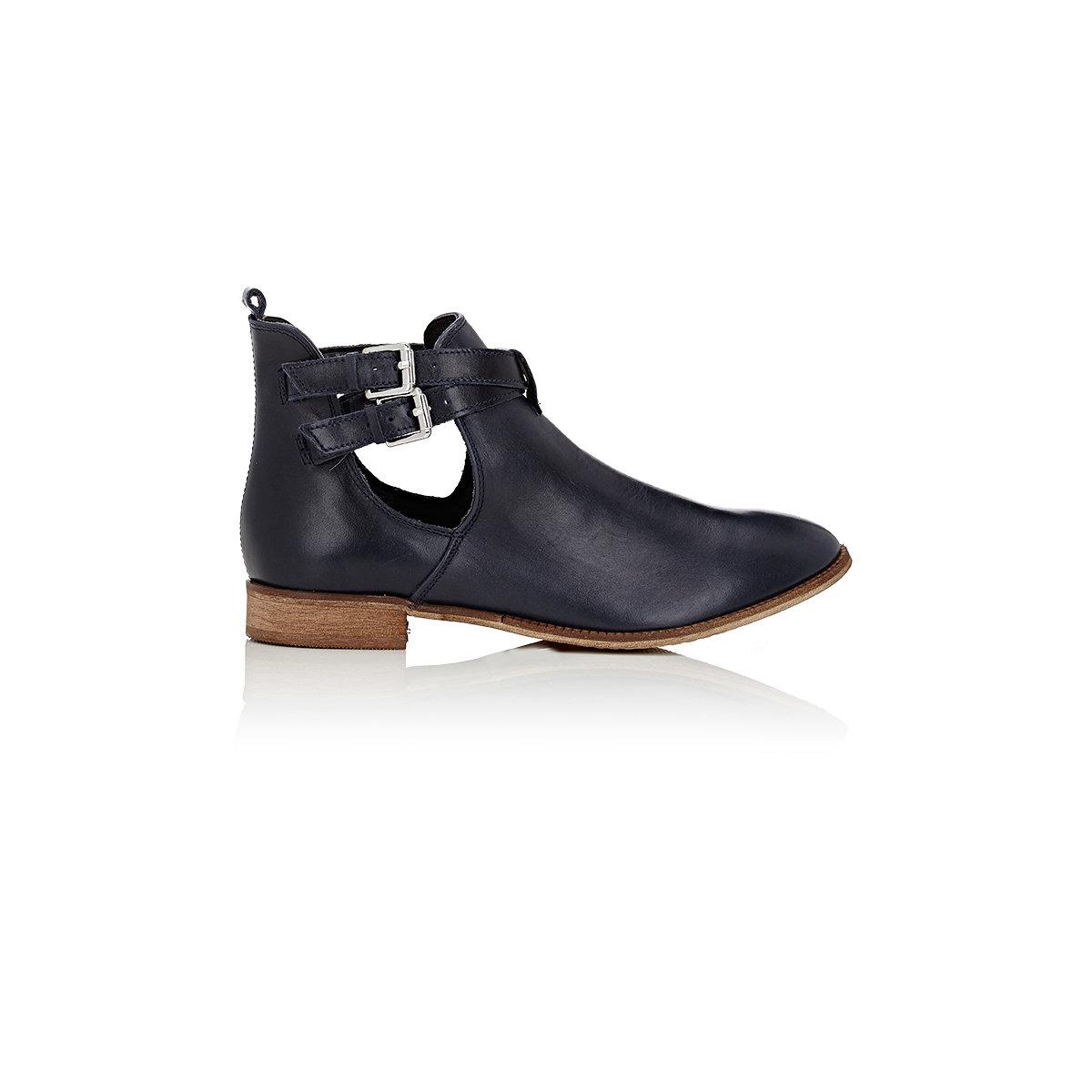 barneys new york crisscross ankle boots in black lyst