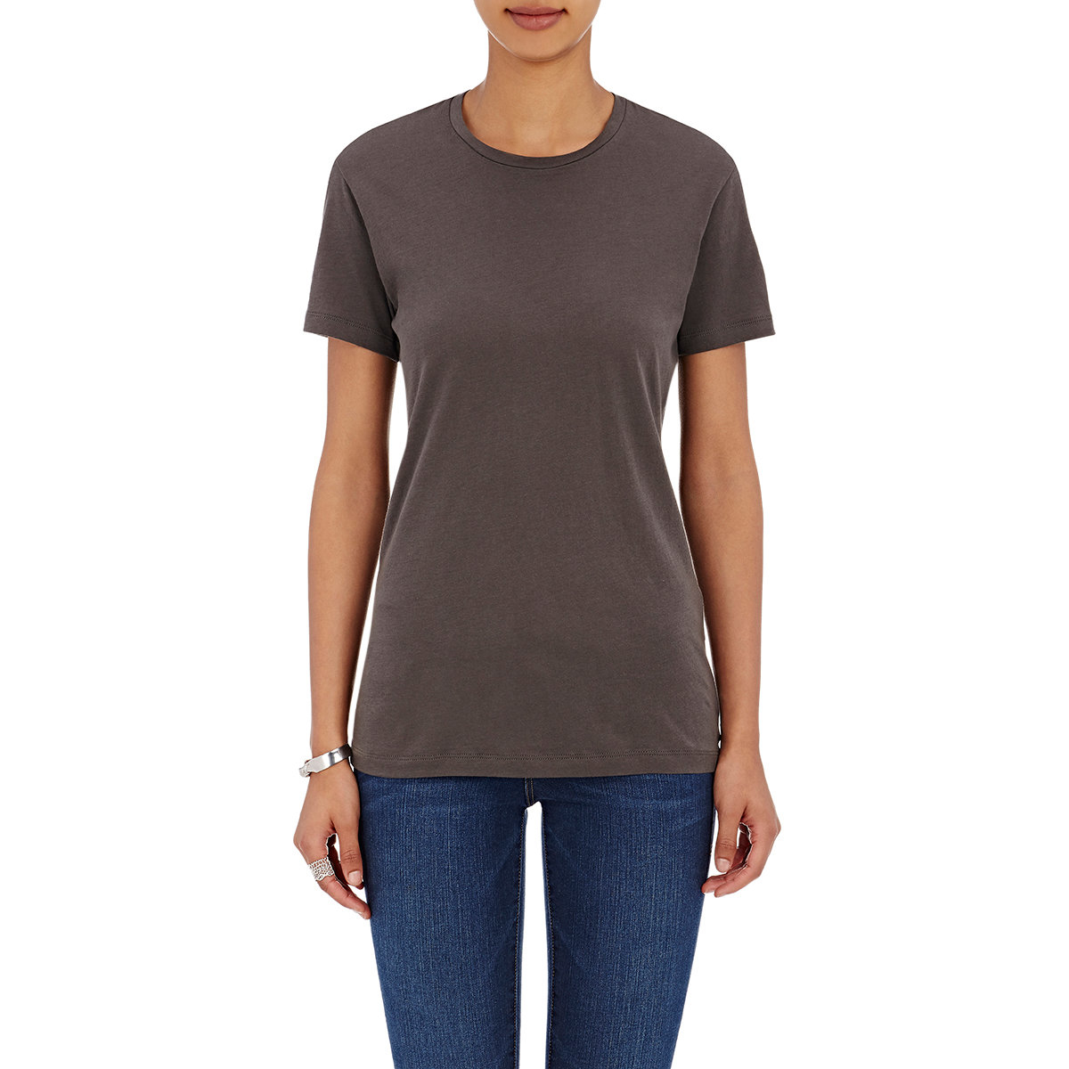 Lyst barneys new york crewneck t in brown for New york and company dress shirts