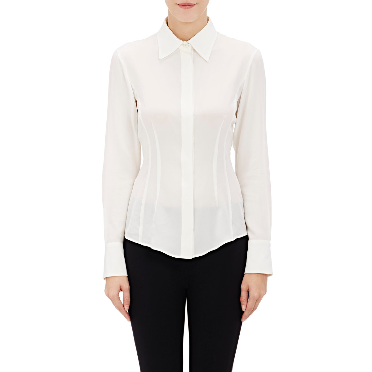 White Blouse Fitted 79