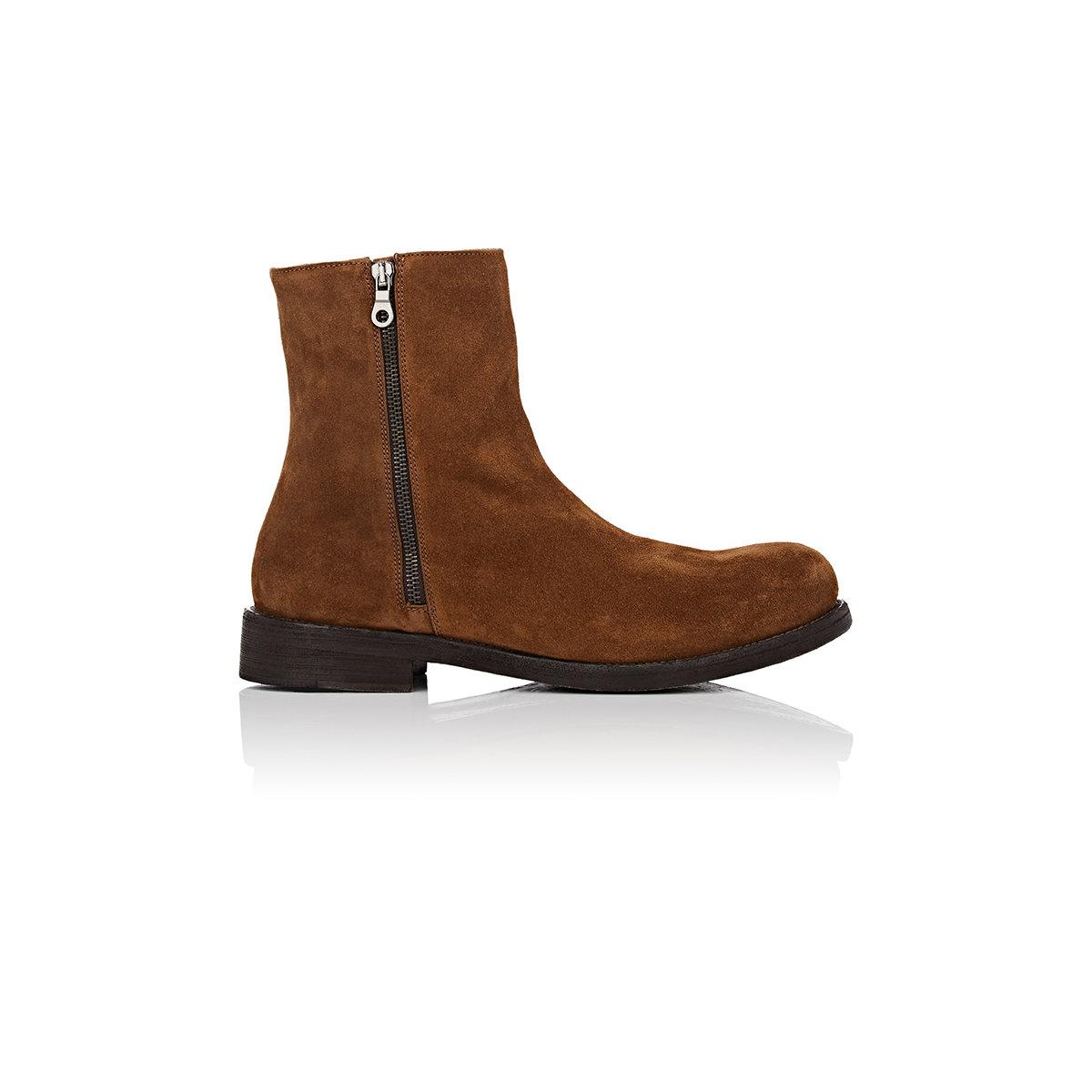 barneys new york suede ankle boots in brown lyst