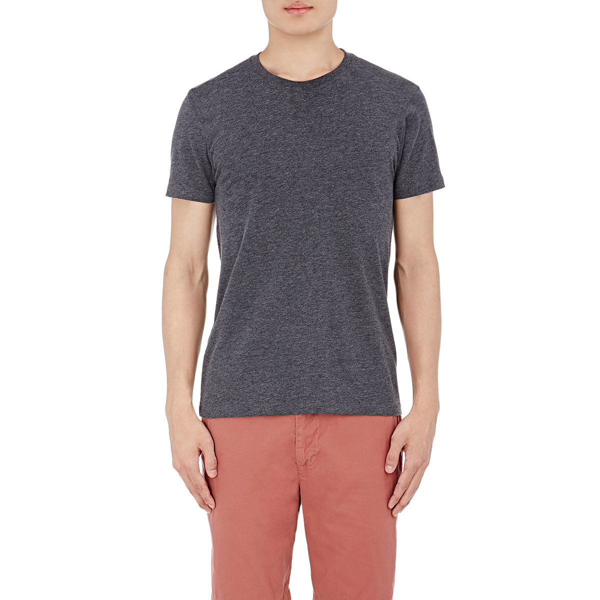 Barneys New York M Lange Jersey Crewneck T Shirt In Blue
