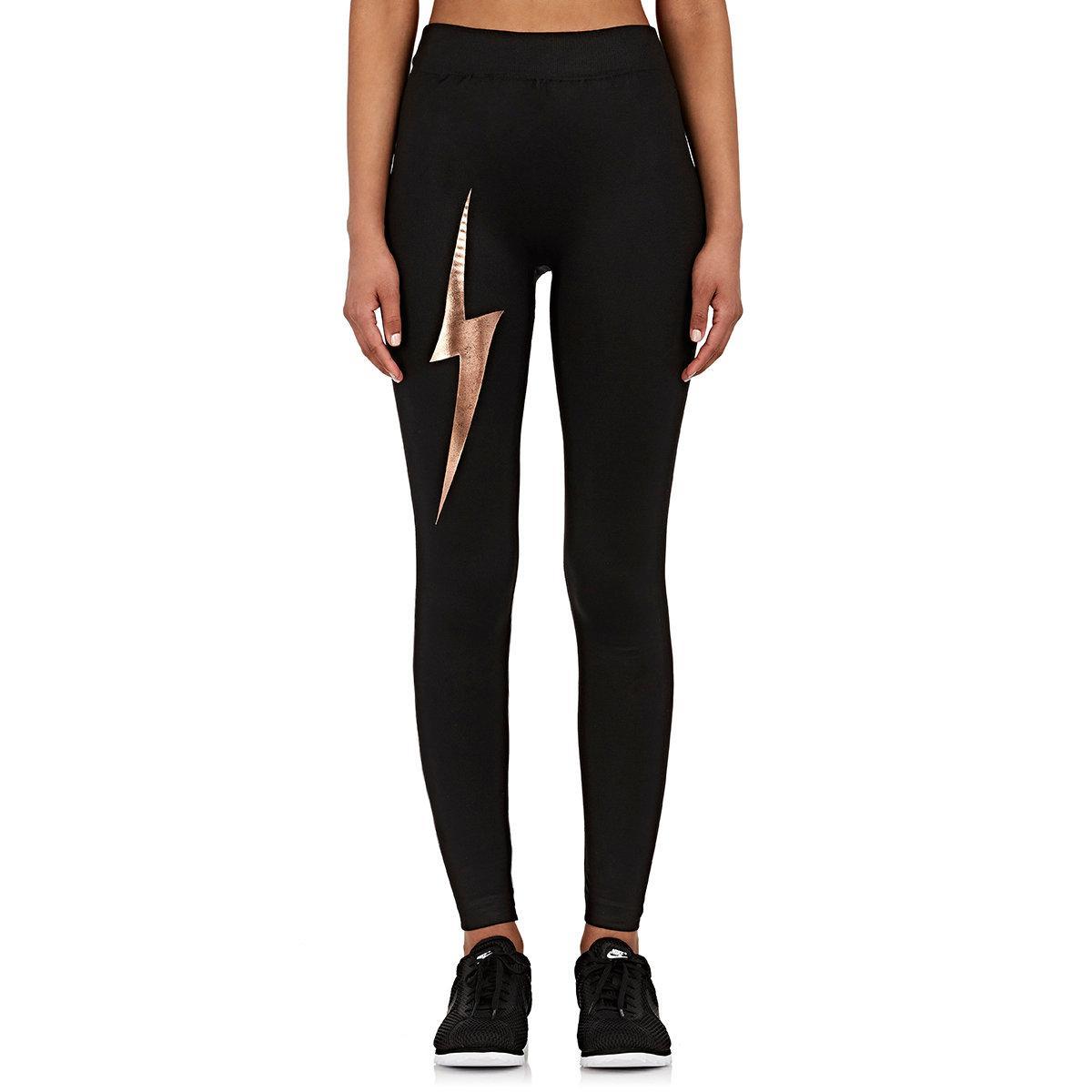 Electric Yoga Bolt Leggings In Black