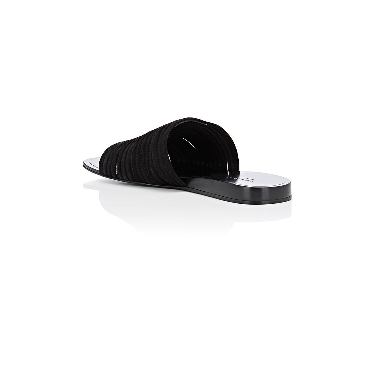 a812c28ec0349b Rag   Bone - Black Cameron Suede Slide Sandals - Lyst. View fullscreen