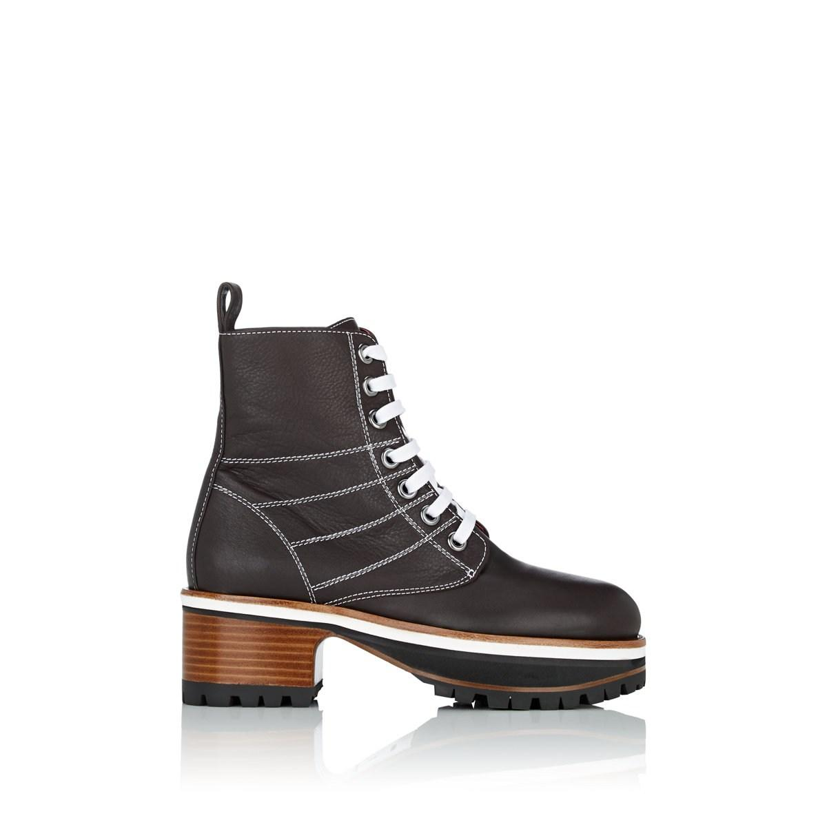 a7383dbb1153a Lyst - Sies Marjan Jessa Leather Combat Boot in Brown - Save 70%