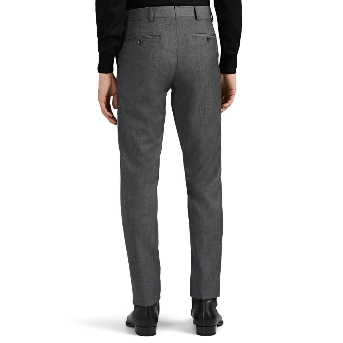 Ralph Lauren Purple Label Mens Anthony Charcoal Wool Cashmere Flannel Trouser
