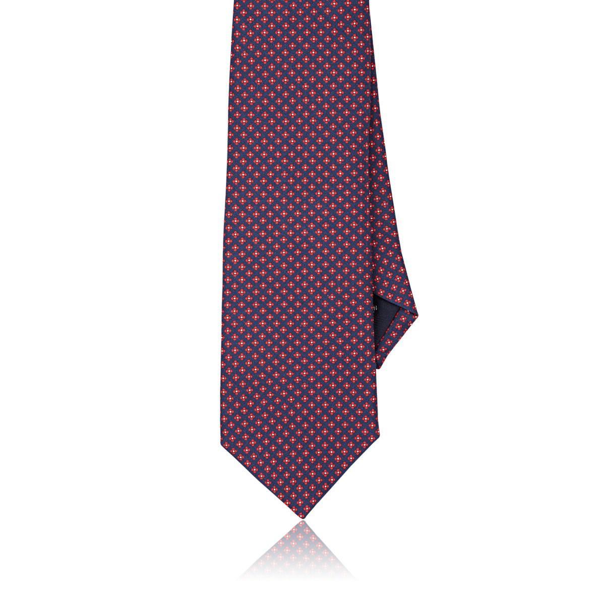 Mens Diamond-Pattern Silk Necktie Paolo Albizzati kpEfrE0KJ5