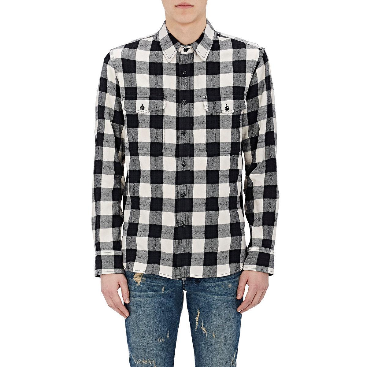 Mens Jack Plaid Cotton Flannel Overshirt Rag & Bone Big Sale For Sale Cheap Sale Limited Edition 2018 Cheap Price Top Quality 56813Rl9