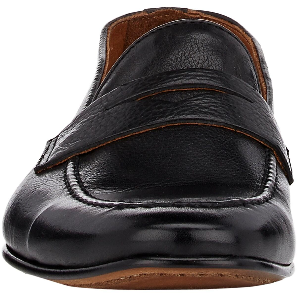bbae5b32a948a Barneys New York Apron-toe Penny Loafers in Black for Men - Save 50% - Lyst