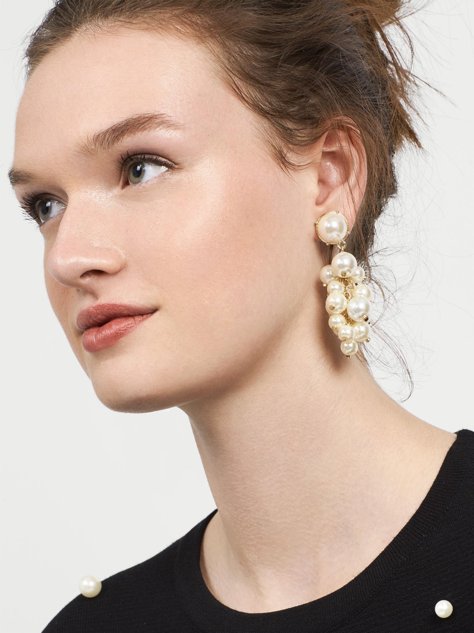 e807744d3d301 BaubleBar Multicolor Cluster Pearl Drop Earrings