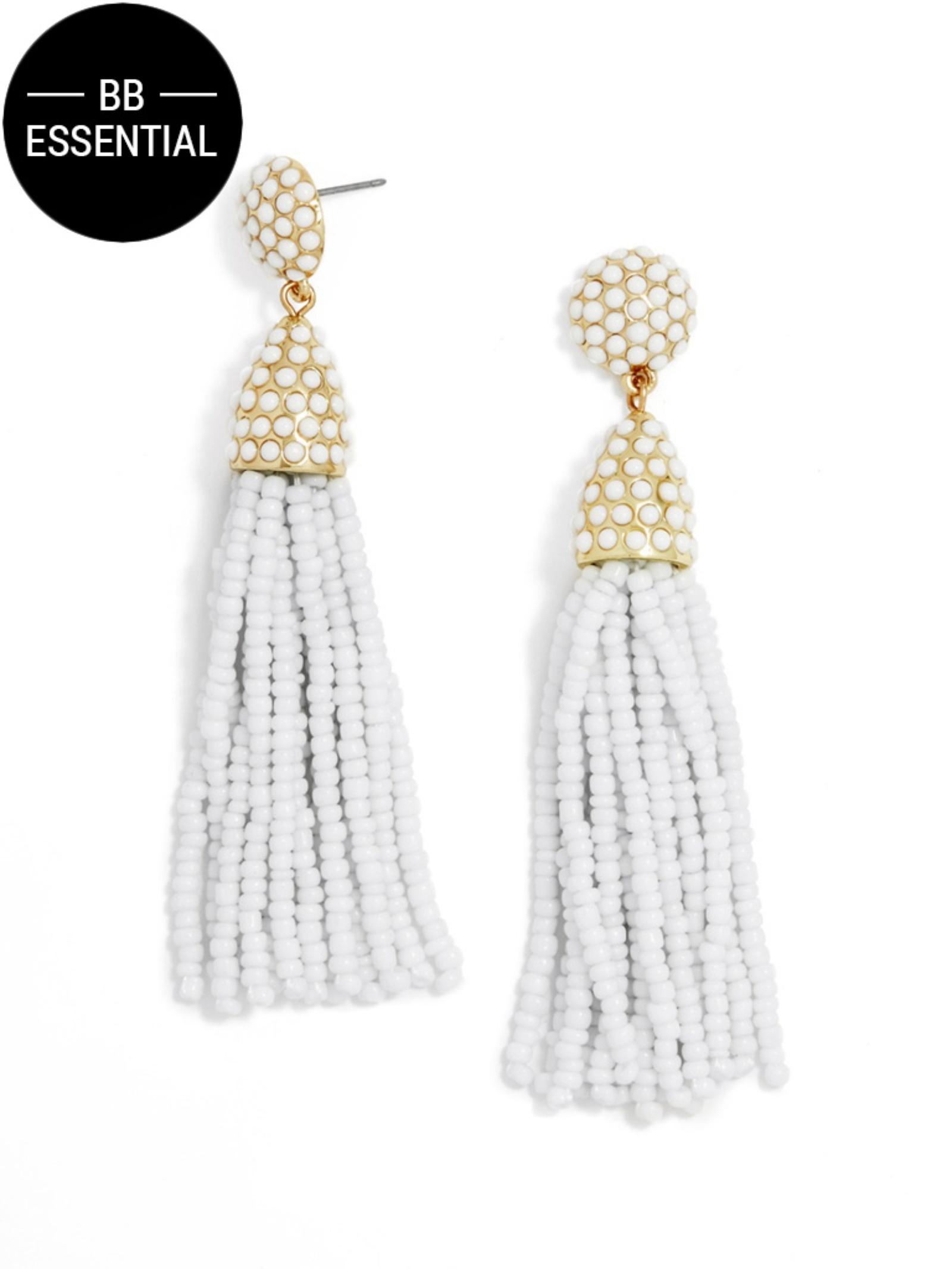 Lyst Baublebar Pi 241 Ata Tassel Earrings In White