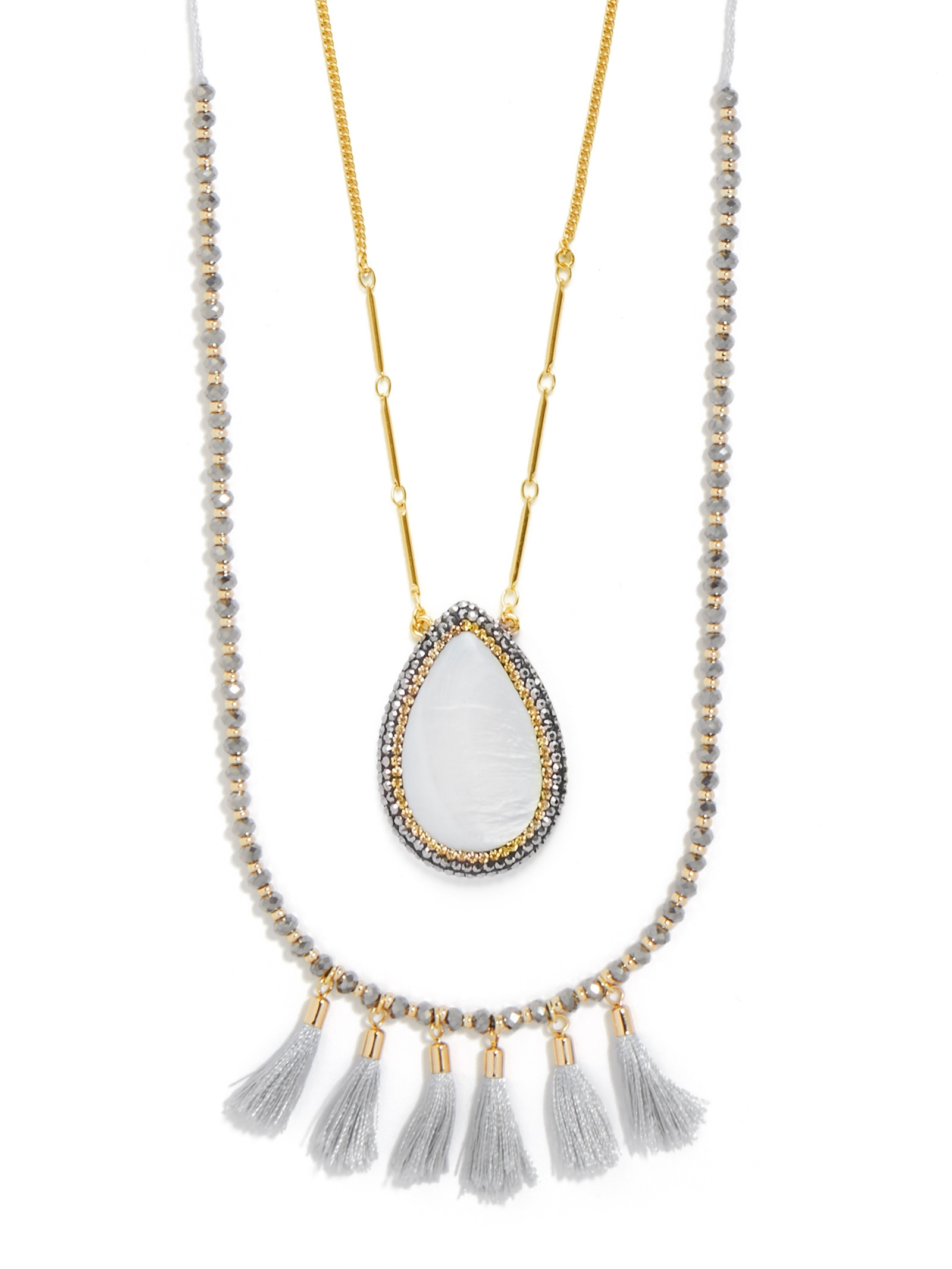 baublebar graylady necklace in metallic lyst