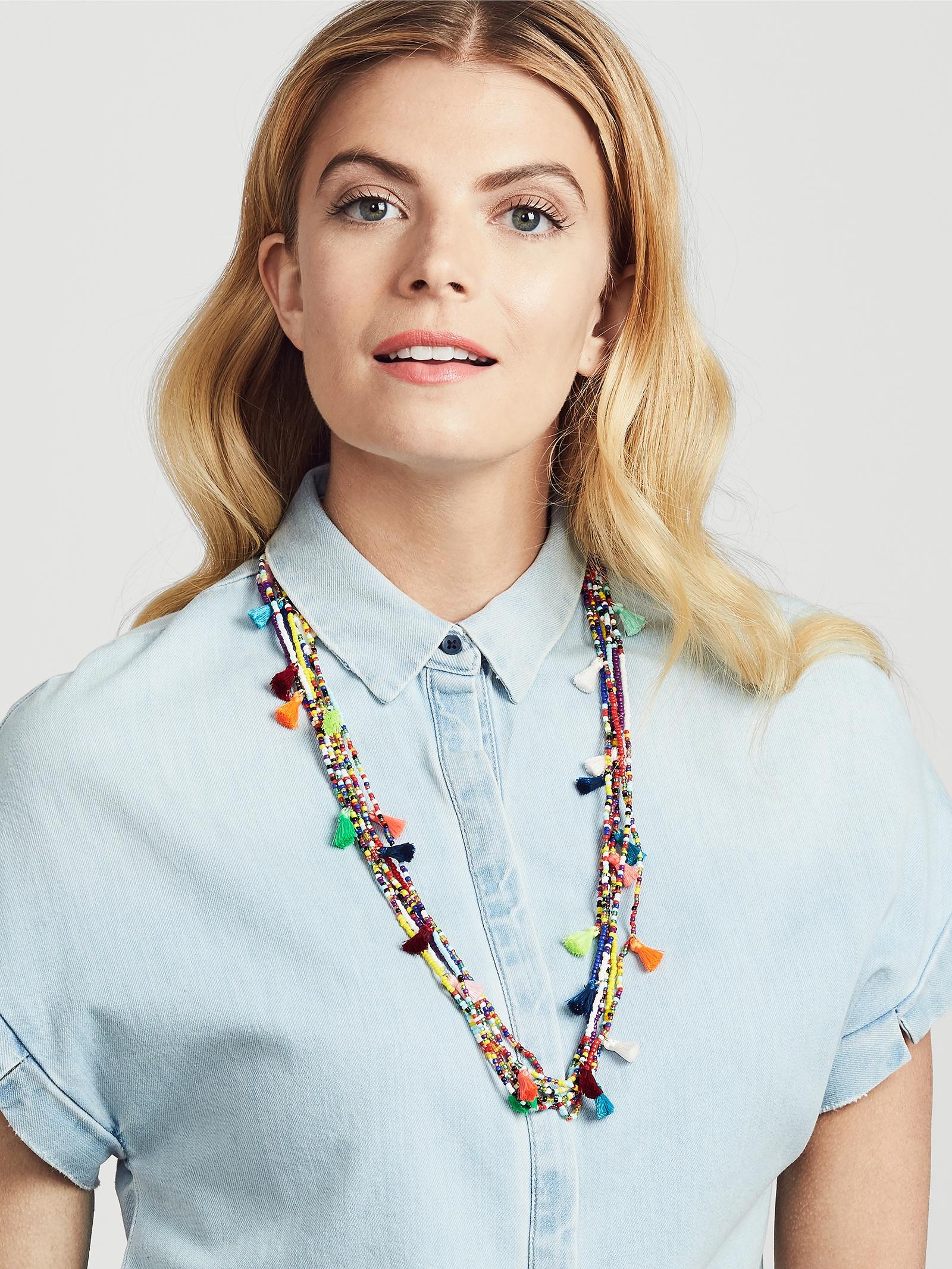 BaubleBar Riviera Tassel Necklace