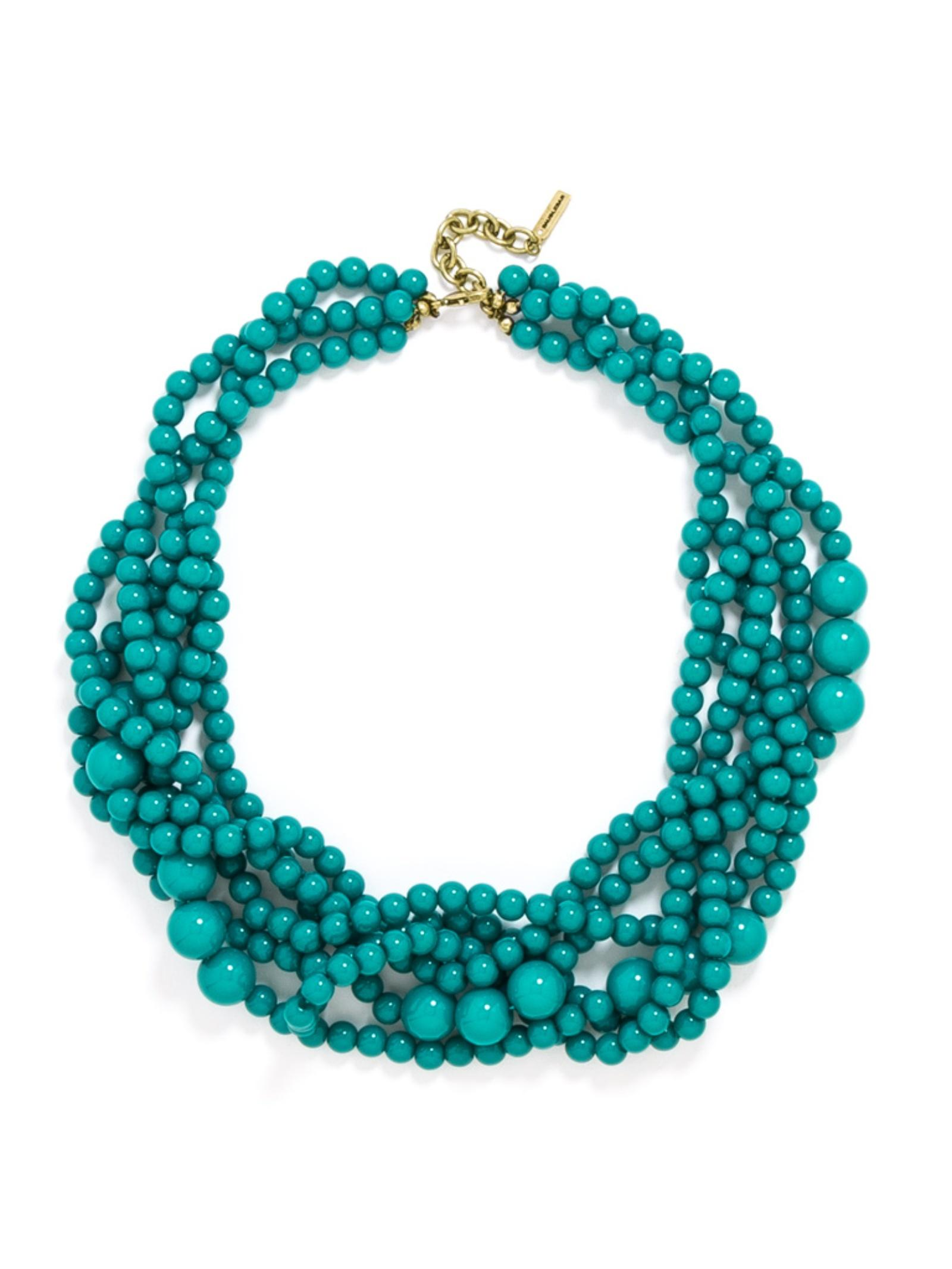 BaubleBar Synthetic Bubblestream Collar in Teal (Blue)