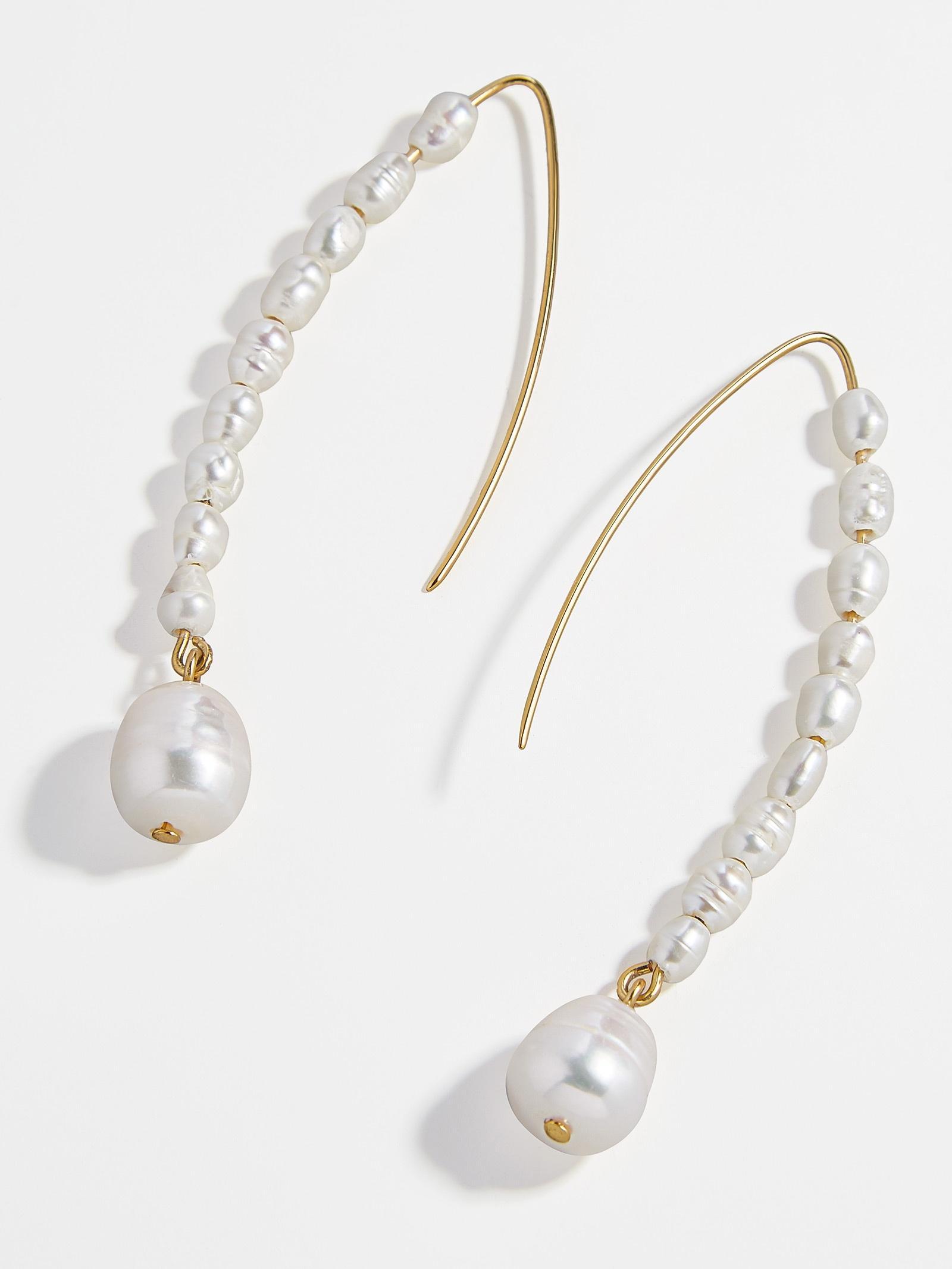 a6e18a5736e20 Women's White Caspian Pearl Drop Earrings