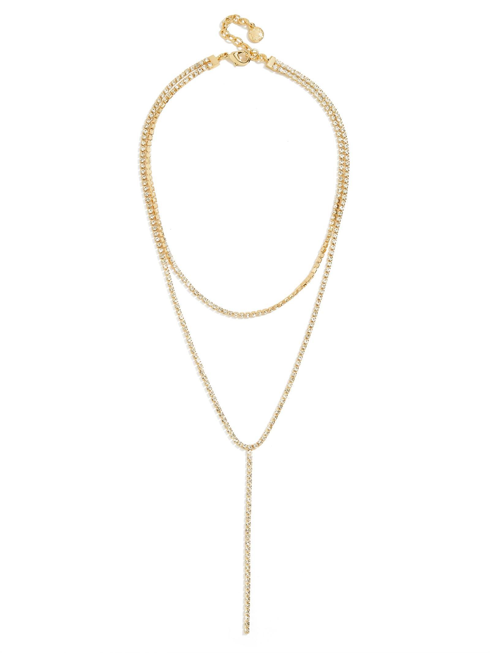 BaubleBar Skyler Layered Necklace in Metallic
