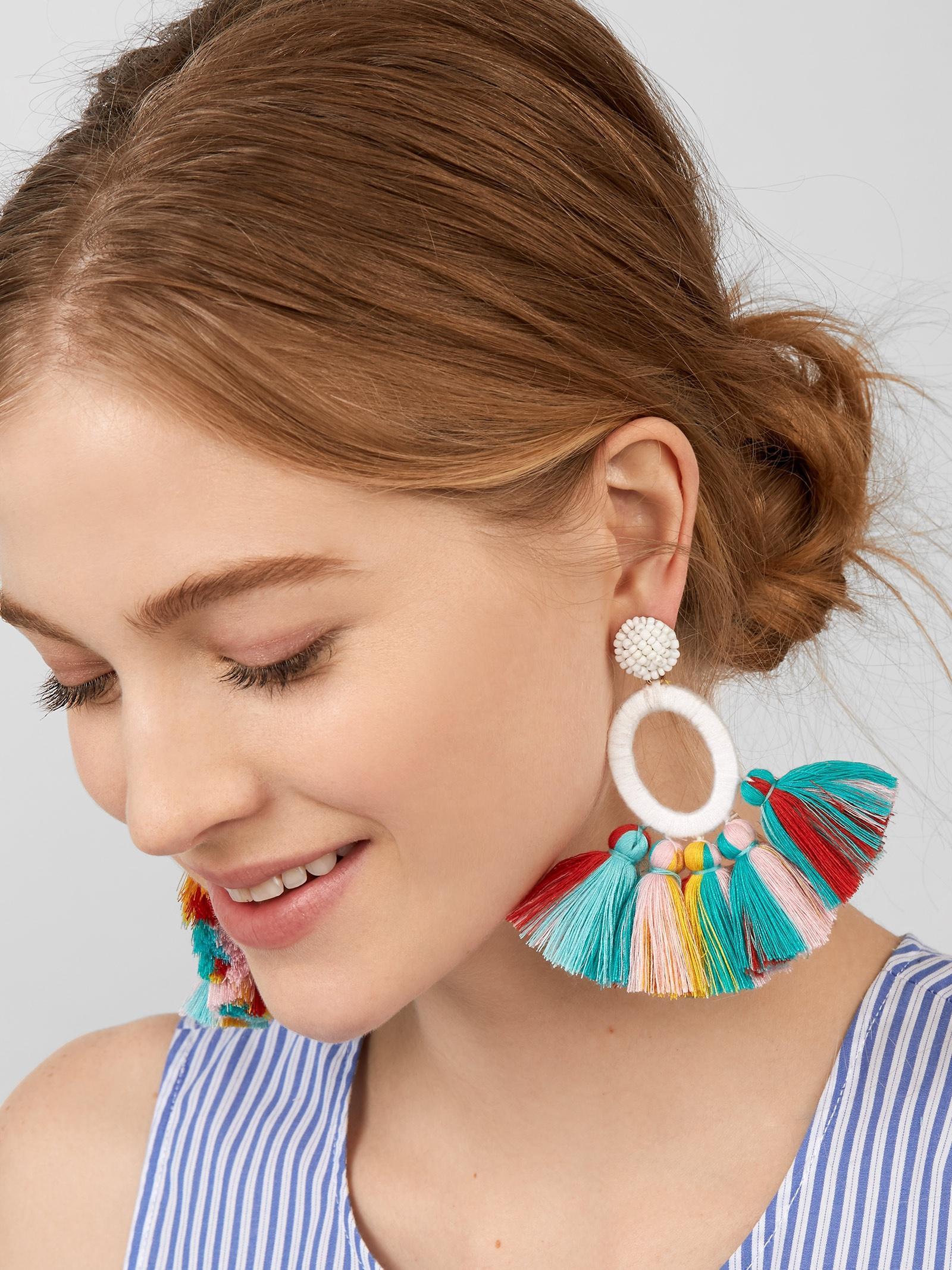bd1e937d3 BaubleBar Abacos Tassel Earrings - Lyst