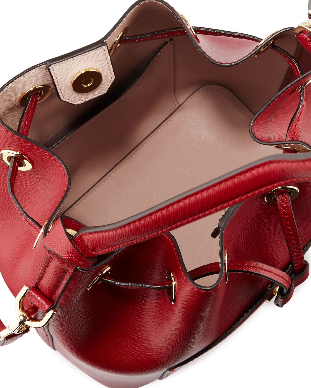 bb40cd38b7ca ... Michael michael kors Greenwich Medium Bucket Bag in Red Lys ...