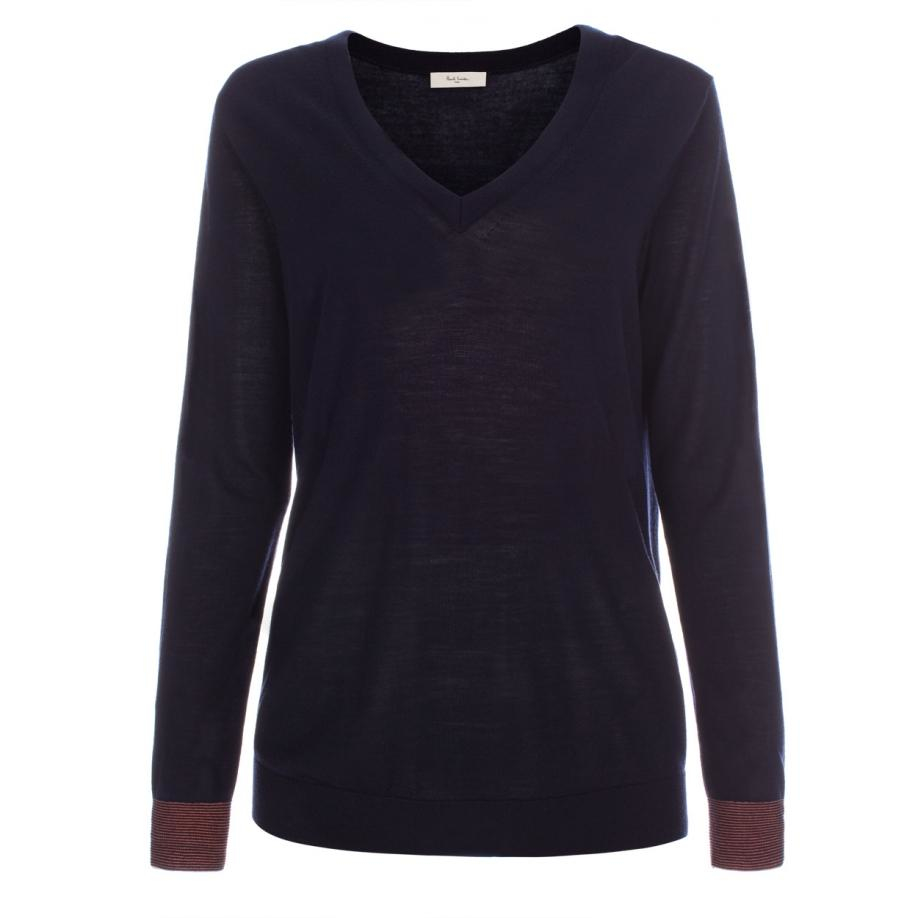 Women'S Navy Blue Sweater 81