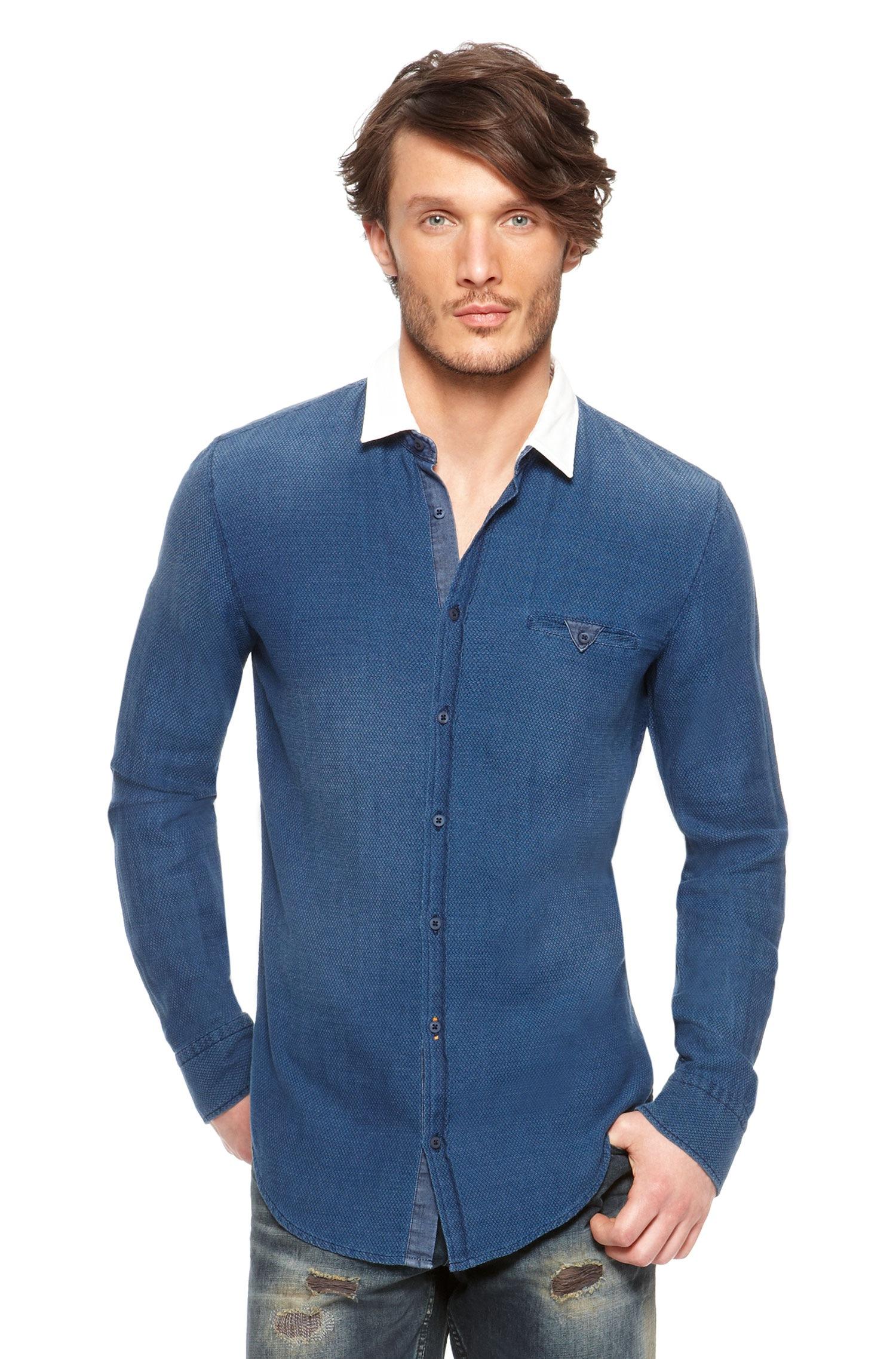 Boss Orange Expresse Slim Fit Cotton Button Down Shirt