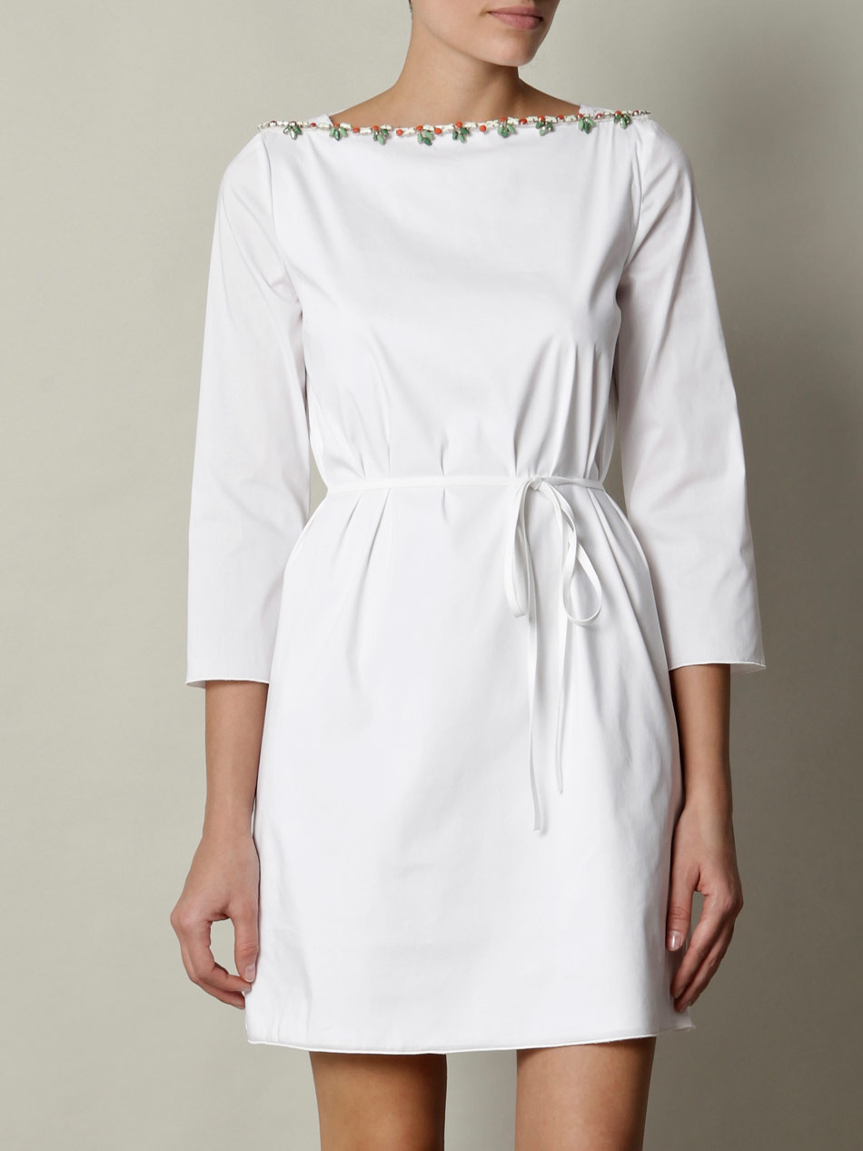 N°21 White Cotton Dress in White | Lyst