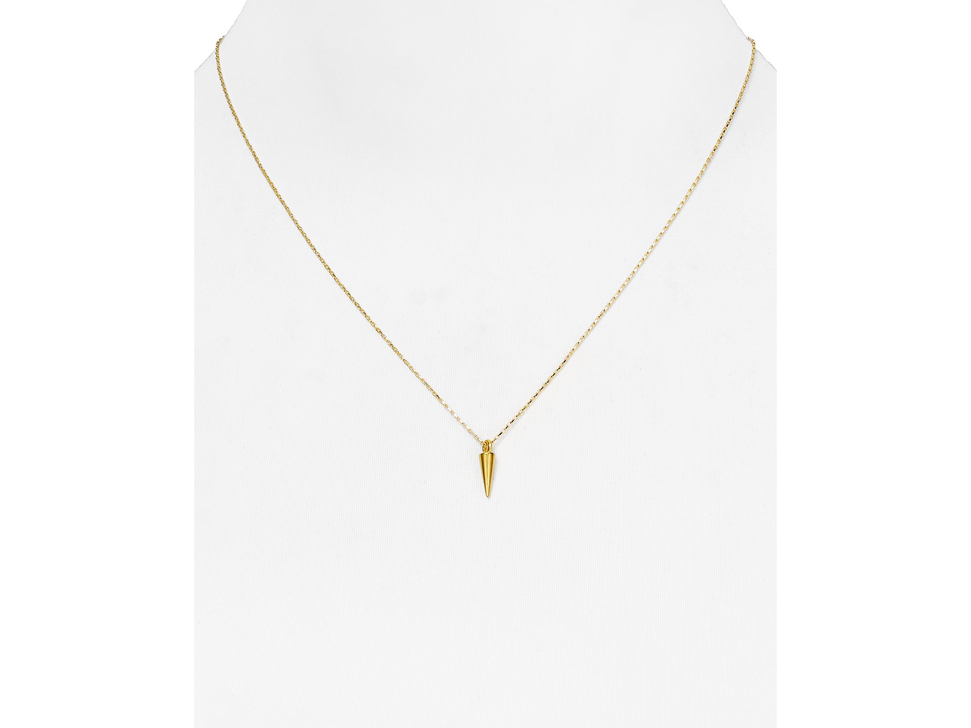"""Dogeared Dare To Spike Necklace, 18"""" in Gold (Metallic)"""