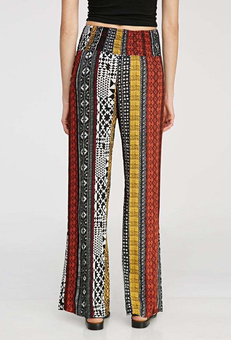 Forever 21 Print Wide-leg Pants You've Been Added To The Waitlist ...