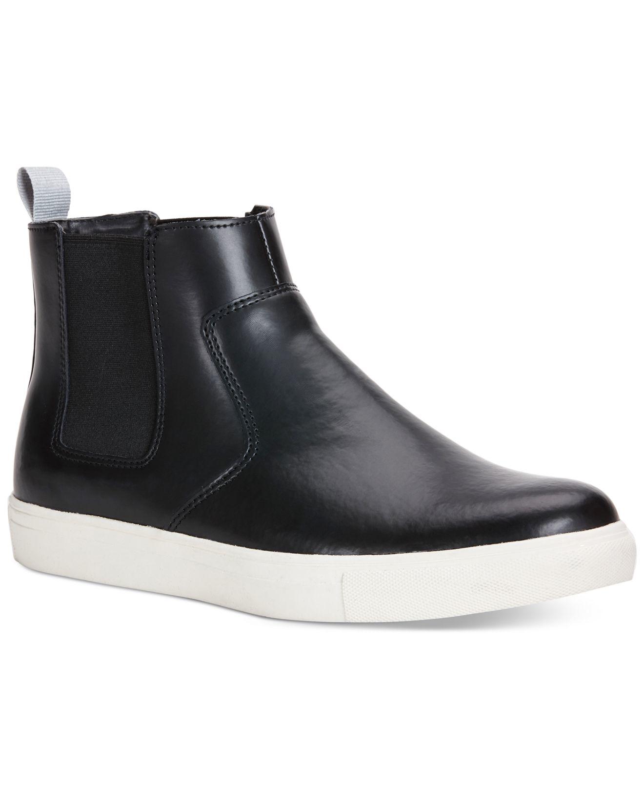 lyst calvin klein jeans casen chelsea pull on hi tops in black for men. Black Bedroom Furniture Sets. Home Design Ideas
