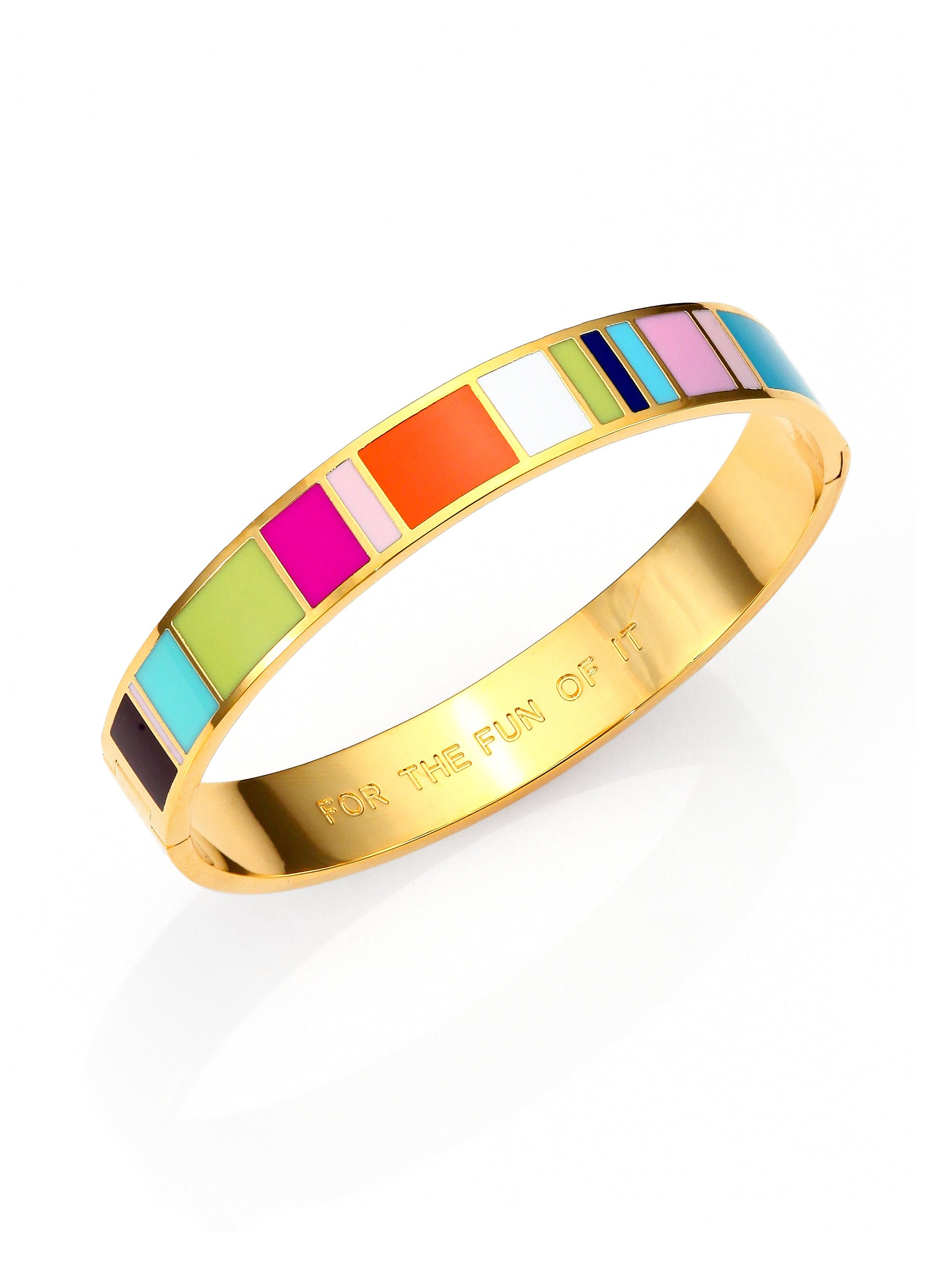 Lyst Kate Spade New York For The Fun Of It Enamel Idiom Bangle