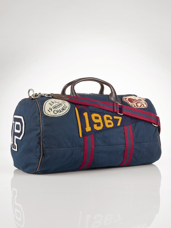 Lyst - Polo Ralph Lauren Canvas Stadium Duffel Bag in Blue for Men 3f6daf305ab9a