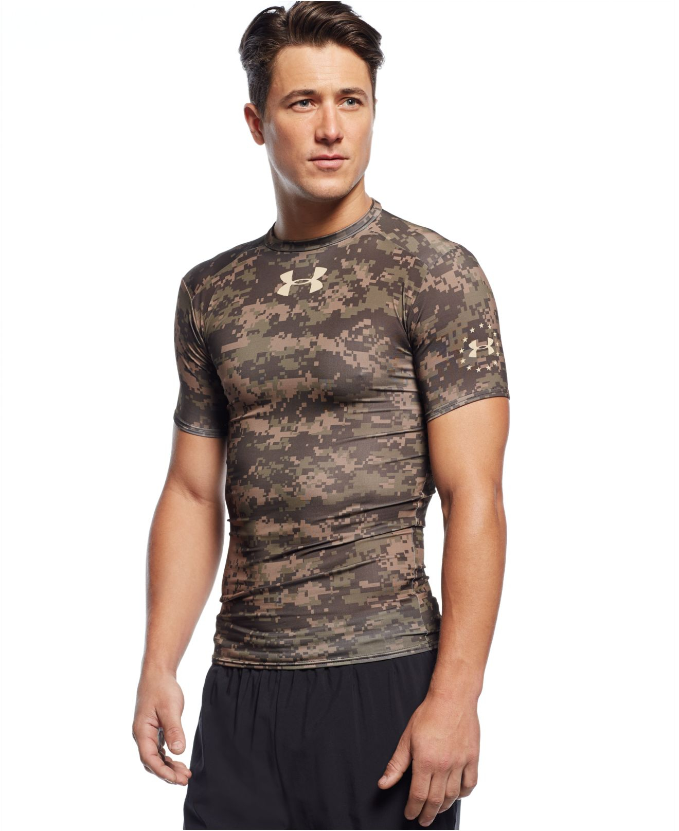 adfb4d92 Under Armour Woodland Camo Compression T-shirt in Green for Men - Lyst