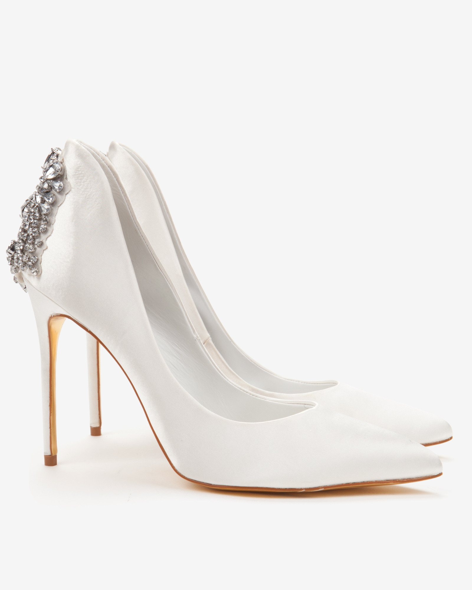 648cb4c3b Ted Baker Embellished Court Shoes in White - Lyst