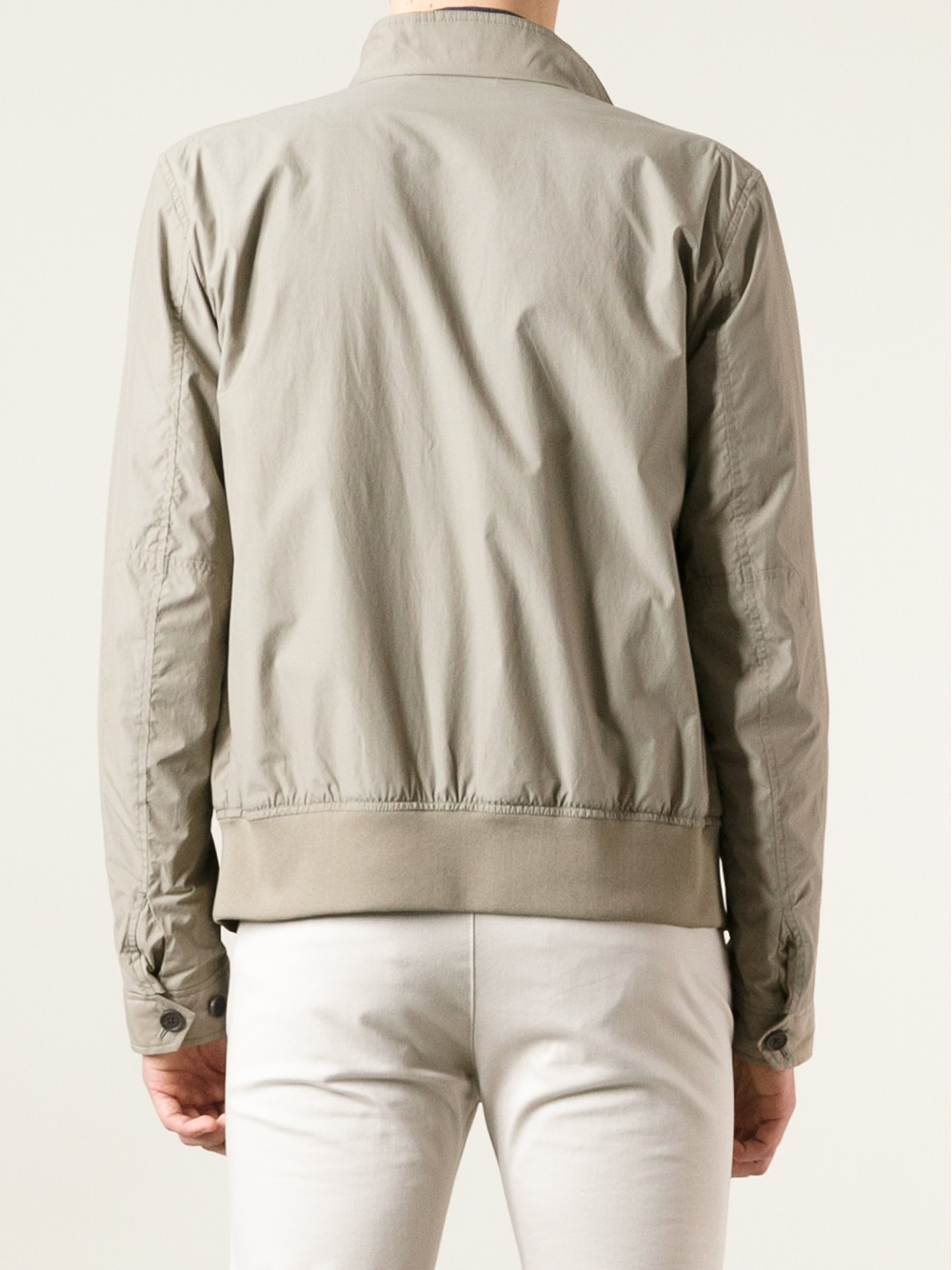 Z zegna Bomber Jacket in Natural for Men | Lyst
