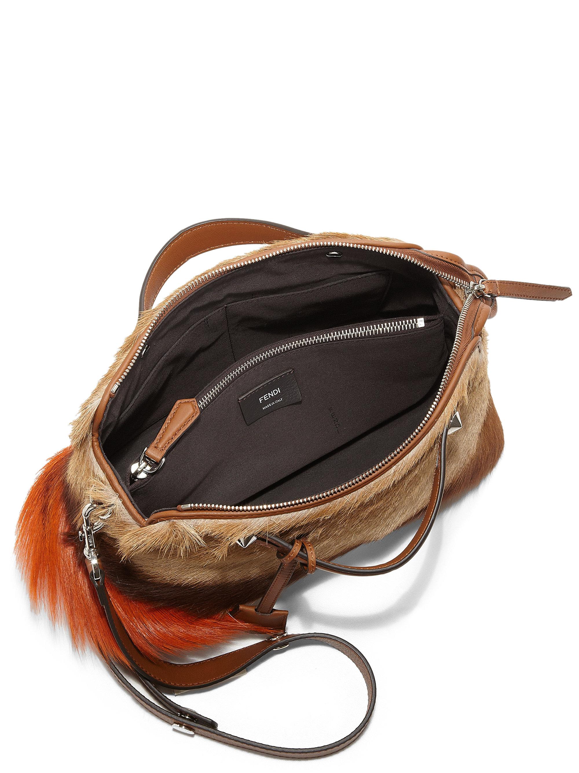 9ad4028e6b2 fendi handbags - Fendi By The Way Small Fur Satchel in Brown (TAN-MULTI