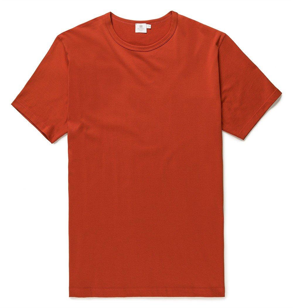 sunspel men 39 s long staple cotton classic t shirt in red