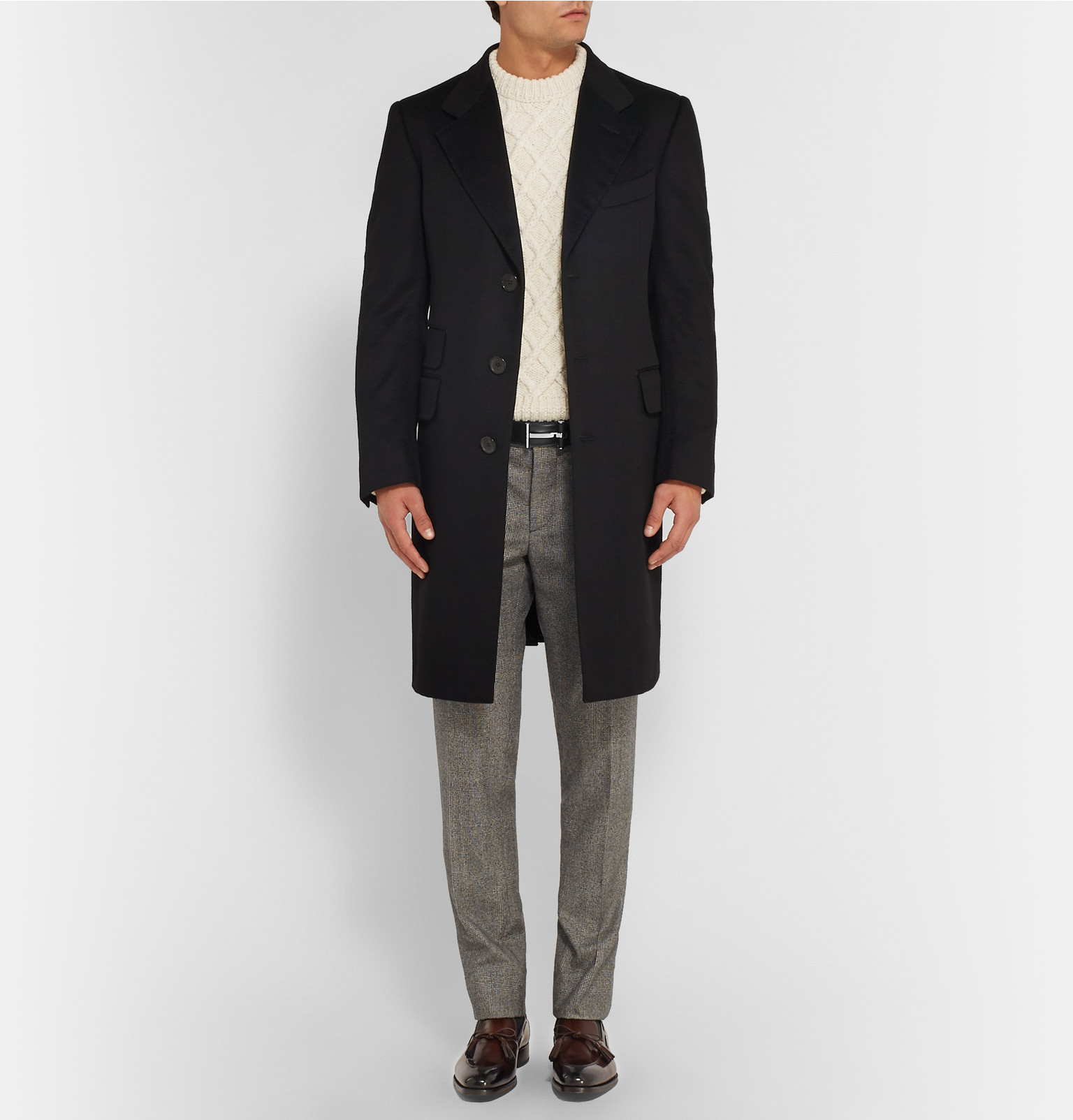 78a381e51 Tom Ford 4cm Black Leather Belt in Black for Men - Lyst